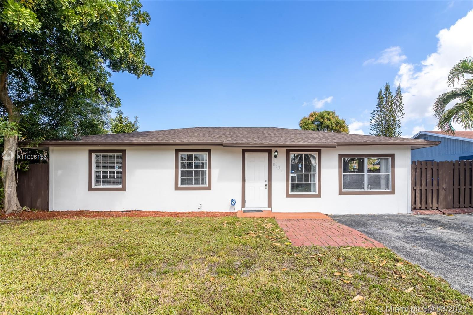Beautiful 3/2 home completely remodeled, New roof, new AC, kitchen updated with new stain steel appliances. Located in the heart of North Lauderdale, close to highways and shopping centers, very quiet community with great neighbors.
