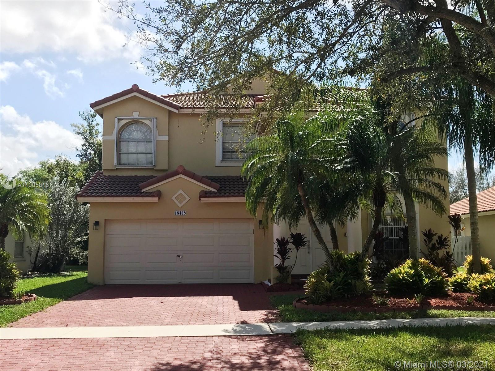 Spectacular location in the heart of Pembroke Pines. Welcome to this beautiful & spacious 5/3 two story home with a nice screened-in patio with in-ground pool was diamond bright 2014 & night pool lights. New Roof  (2018), House Interior painted 2018, Water Heater was replaced 2013. Ceiling painted and update to smooth finish , Accordion Hurricane Shutters & Impact Glass on Sliding Door, Brick Driveway painted ,  Has a Family Room, Formal Dining, Breakfast Nook, Living/Family Room, Laundry.Utility Room, Rooms have Energy Efficient Remote Ceiling Fans, Pool LED Lightning, New Recessed Lightning with Dimmer Kitchen/Living Room, Garage remote Control Ceiling Fan. Master Bathroom beautiful entrance to a Roman tub, His & Her Sinks, plenty of cabinet space. Smoke alarms, Tile, Wood floors & Rug.