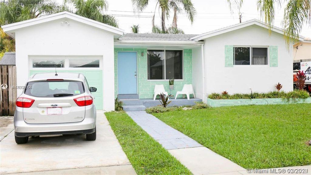 ***** 2 MILES FROM THE BEACH ***** Beautiful home located minutes from the beach. This home is completely upgraded with spectacular terrazzo floors. Totally upgraded everything. Spacious and open kitchen area. Impact Windows. There is a large covered patio and large fanced backyard. The neighborhood is well maintained with very few available homes. Main house is 2/2 and there is a 1/1 attached apartment.