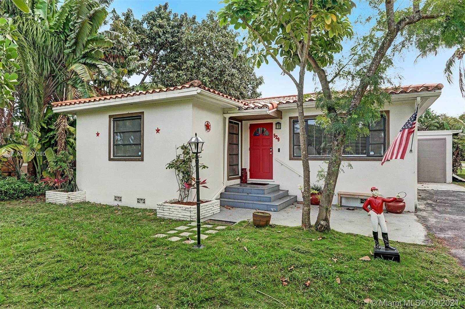 WOW!! Fantastic opportunity to live in Melaleuca Gardens in Dania Beach. This charming single family home sits on a huge corner lot with lots of space to park many cars or even a boat. Great layout that features a Florida room with lots of natural light. The backyard features a screened-in patio with a jacuzzi as well as a historic mosaic art deco piece on the wall. Attached to the patio is a private workshop and a full-size laundry room. Yard includes lemon trees and avocado trees. Location is great! Very close to the beach.