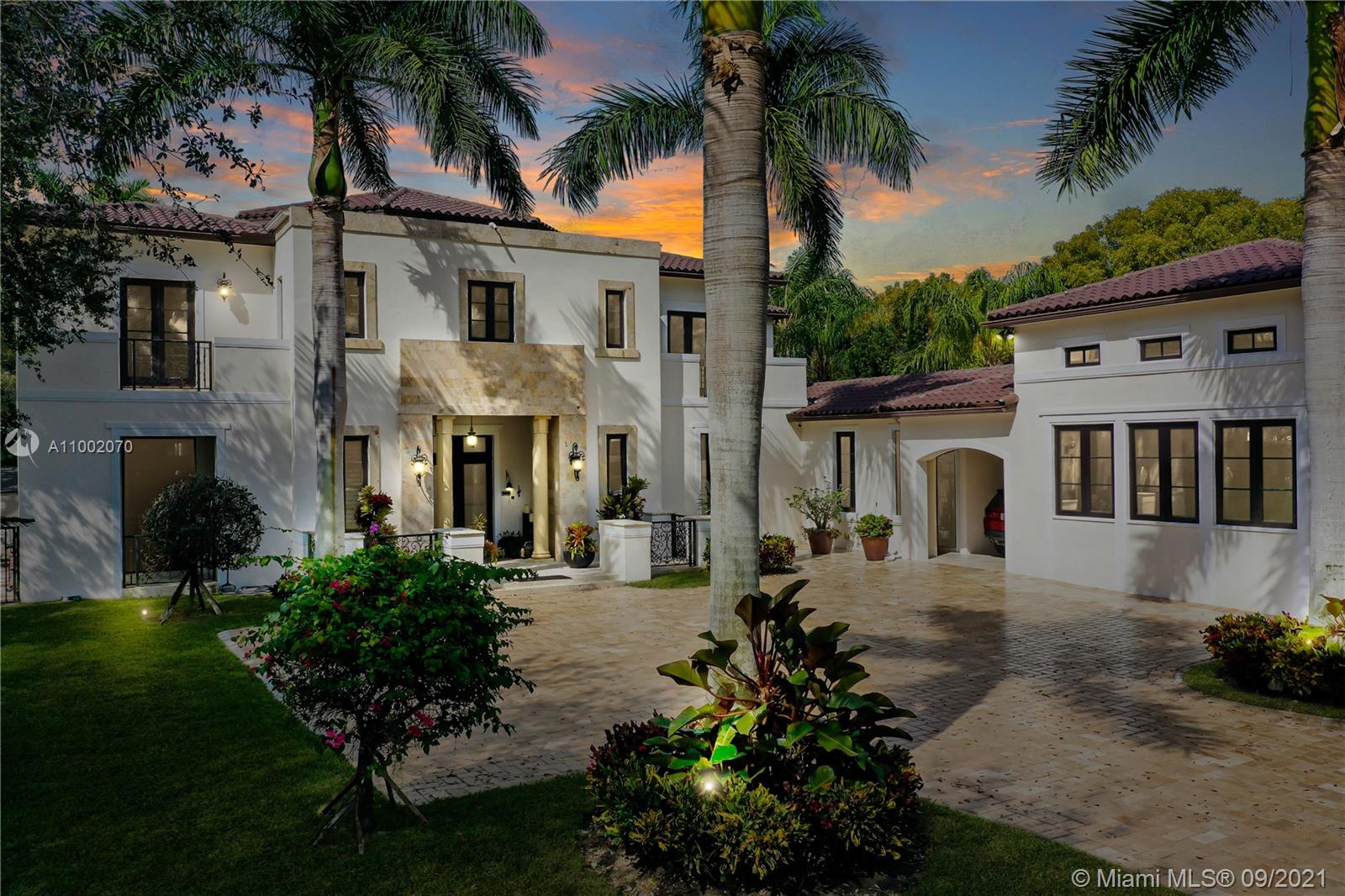 A stunning Mediterranean  Single Family Home is like a dream come true. Located in Pinecrest premier neighborhood, favorite place to live for many professional sport players!! This magnificent property has 6 Bedrooms/5.5 Bathrooms, one (1) acre lot, marble floors throughout & wood floors in all bedrooms, and built-in wood closets. The open kitchen floor plan has wood cabinetry, top-of-the-line stainless steel appliances, and ample breakfast area calls for family breakfast/brunches. And as if that were not enough, this hidden gem offers a full outdoor kitchen overlooking the lush garden, heated pool with spa, and private basketball court all great for family & friends gatherings. Stop looking for your perfect house & make this one your memorable HOME!