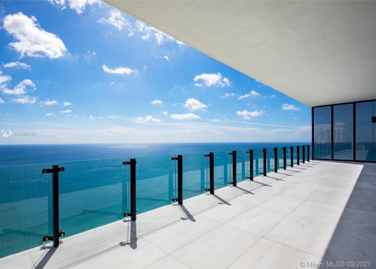 Muse is one of the most exclusive boutique buildings in Miami, and certainly the most exclusive in Sunny Isles Beach. This high floor unit features 3 amazing bedrooms with their own bathrooms and closets. The master bedroom has a coffee area, spa like bath and an amazing closet. There is a den that can be converted into a 4th bedroom, an office or play room. The kitchen has fully integrated Wolf, Bosch and Subzero appliances, including kitchen maker and wine cellar. Deep and wide balcony with complete summer kitchen, providing 180 degrees of direct ocean views. Huge living and dining rooms with 11' ceilings, allowing a lot of natural light to every corner of this condo. Come and see for yourself. Easy to show. Won't last long in the market!!! Seller will NOT consider lease!