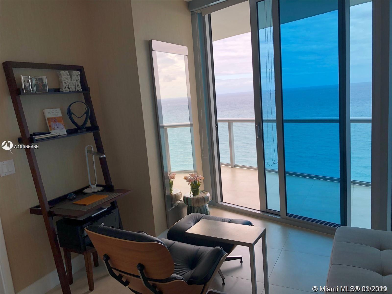 GREAT  3beds/3baths DEAL in prestigious and luxurious oceanfront JADE BEACH Condominium in Sunny Isles Beach! Enjoy breathtaking, unobstructed, direct ocean views from this spectacular residence in the sky! Offered unfurnished with amazing finishes such as: european appliances, quartz kitchen counter top, cabinetry, beautiful marble floors throughout, closets and window treatments. 3 bedroom as per owner.
