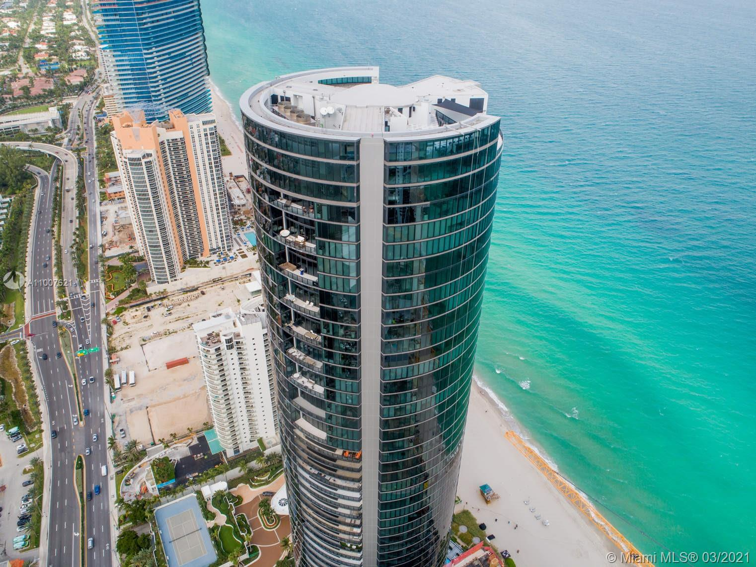 Spectacular professionally furnished unit at very exclusive and sophisticated Porsche Design Tower, in Sunny Isles Beach. The residence has unobstructed ocean and city views, a private pool in the balcony, and a barbecue grill. Park your car at ground level and a car lift will bring it to your floor. You may come in and out without notice, as the mechanism is self-accessible. The building offers countless amenities such as spa and fitness center, entertainment room, restaurant and bar, beach and pool service, to name a few. *Showings only after June 1st*