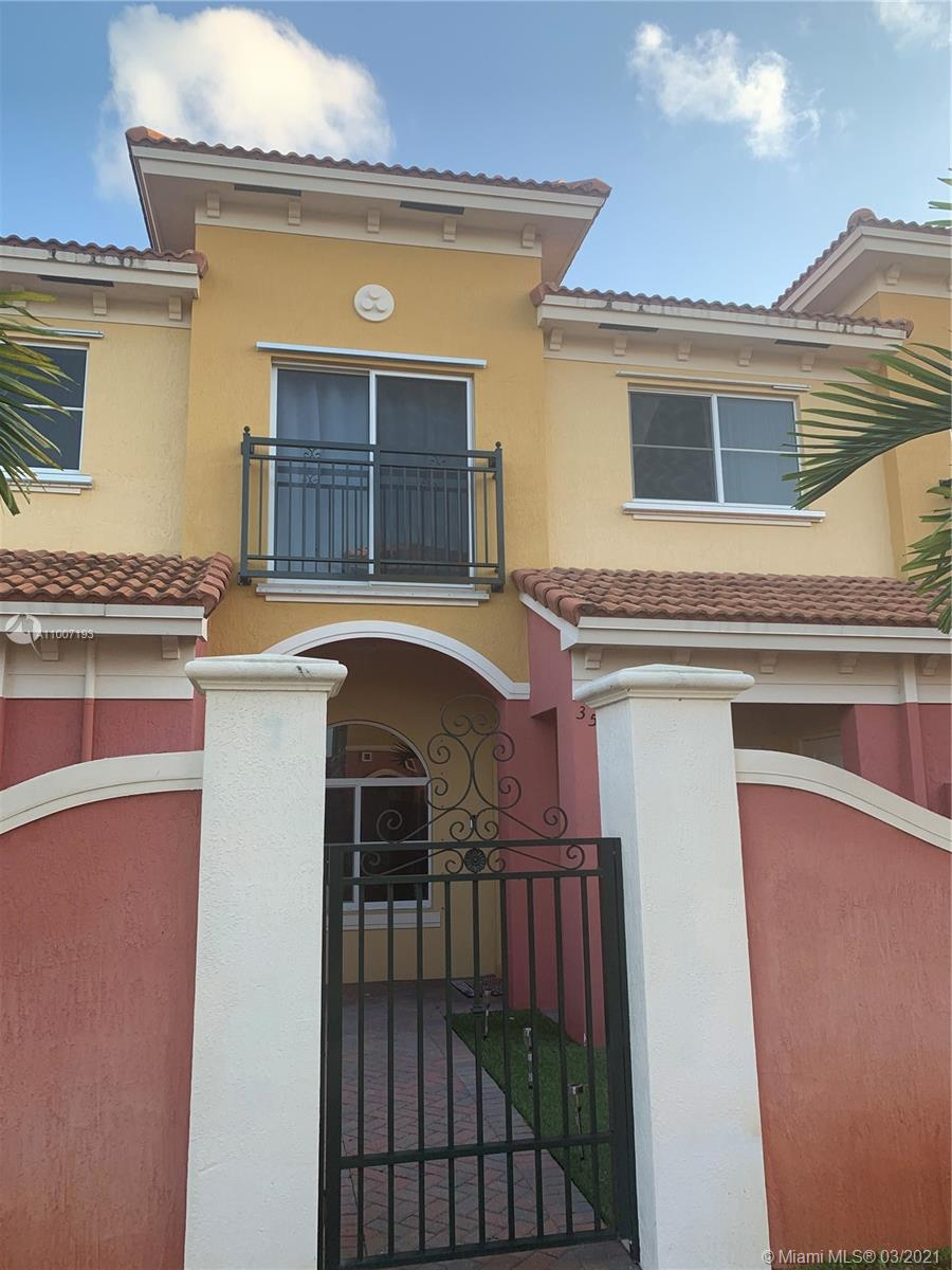 WONDERFUL OPPORTUNITY TO OWN IN BELLA VISTA!!! - 2/2.5 Beautiful Villa Unit built in 2018. This home features tile floor in the main living areas and carpet upstairs. Open kitchen with dark wood cabinets. Private outdoor patio area with beautiful artificial turf. Storage closet & labeled hurricane shutters.  AC, water heater, washer/dryer and all appliances less than 3 years old. Two assigned parking spaces. HOA features clubhouse, pool, and roaming security. Centrally located off US-441 surrounded by shopping and dining. Minutes to I-95, Florida Turnpike, Fort Lauderdale Beaches, and Downtown.