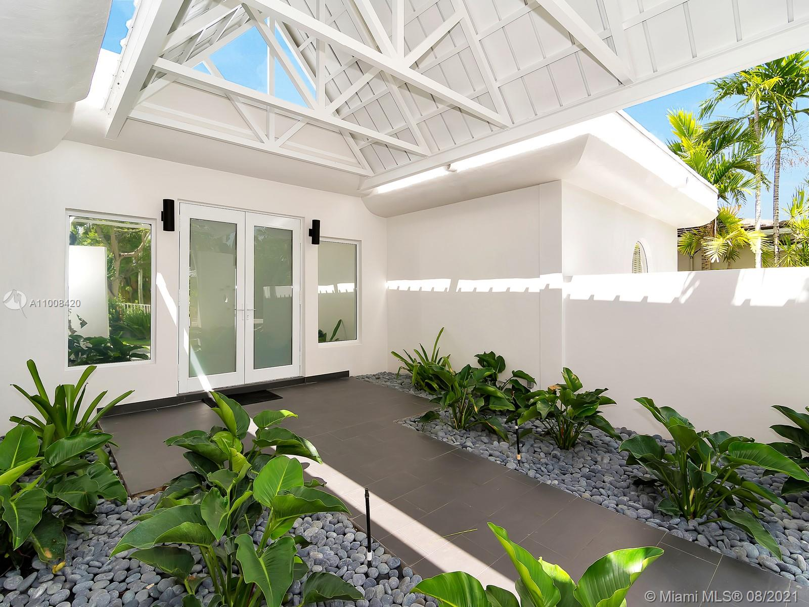 """""""ALL NEW""""! STUNNING COMPLETELY RENOVATED IN 2017 - CONTEMPORARY DESIGN - A REAL 5 BEDROOM, 4.5 BATH+DEN (2,800 SQF """"LIVING AREA"""") ** RENOVATION (ALL WITH PERMITS) INCLUDES NEW HURRICANE PROOF WINDOWS AND DOORS, NEW MECHANICAL SYSTEMS (PLUMBING, ELECTRIC, 3 NEW AC UNITS), AMAZING MODERN ITALIAN KITCHEN WITH QUARTS COUNTERTOP AND HIGH END APPLIANCES ** THIS WATERFRONT PROPERTY ALSO FEATURES RENOVATED MOSAIC POOL, DECK, NEW LANDSCAPING WITH AUTOMATED SPRINKLE SYSTEM AND MORE **"""