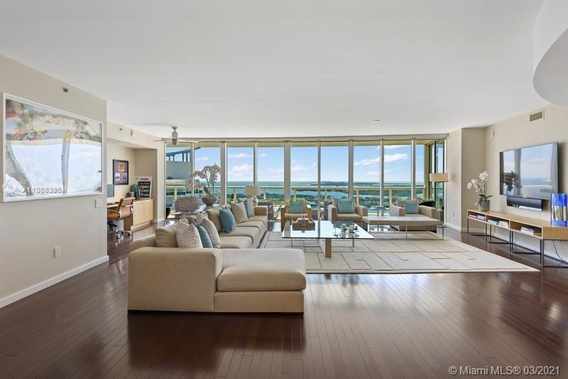 Feel like you are on top of the world in this stunning 39th floor residence in The ICON South Beach. This 3,694 SF combined residence (3903 & 3904) offers a flow-through design that is ideal for families. Featuring 5 Beds, 4.5 Baths, 2 private terraces, with incredible views of Fisher Island, Biscayne Bay, & the islands surrounding South Beach. Watch the parading cruise ships & the dramatic sunsets over the Miami skyline from any of the large entertaining spaces inside or out. The ICON features include, spa/fitness center, 2 pools, Dolce Restaurant (with service to pool & residence), valet, & concierge. World class dining, shopping, entertainment & brilliant beaches are just minutes away! Watch the 3D Matterport Tour for a virtual showing.