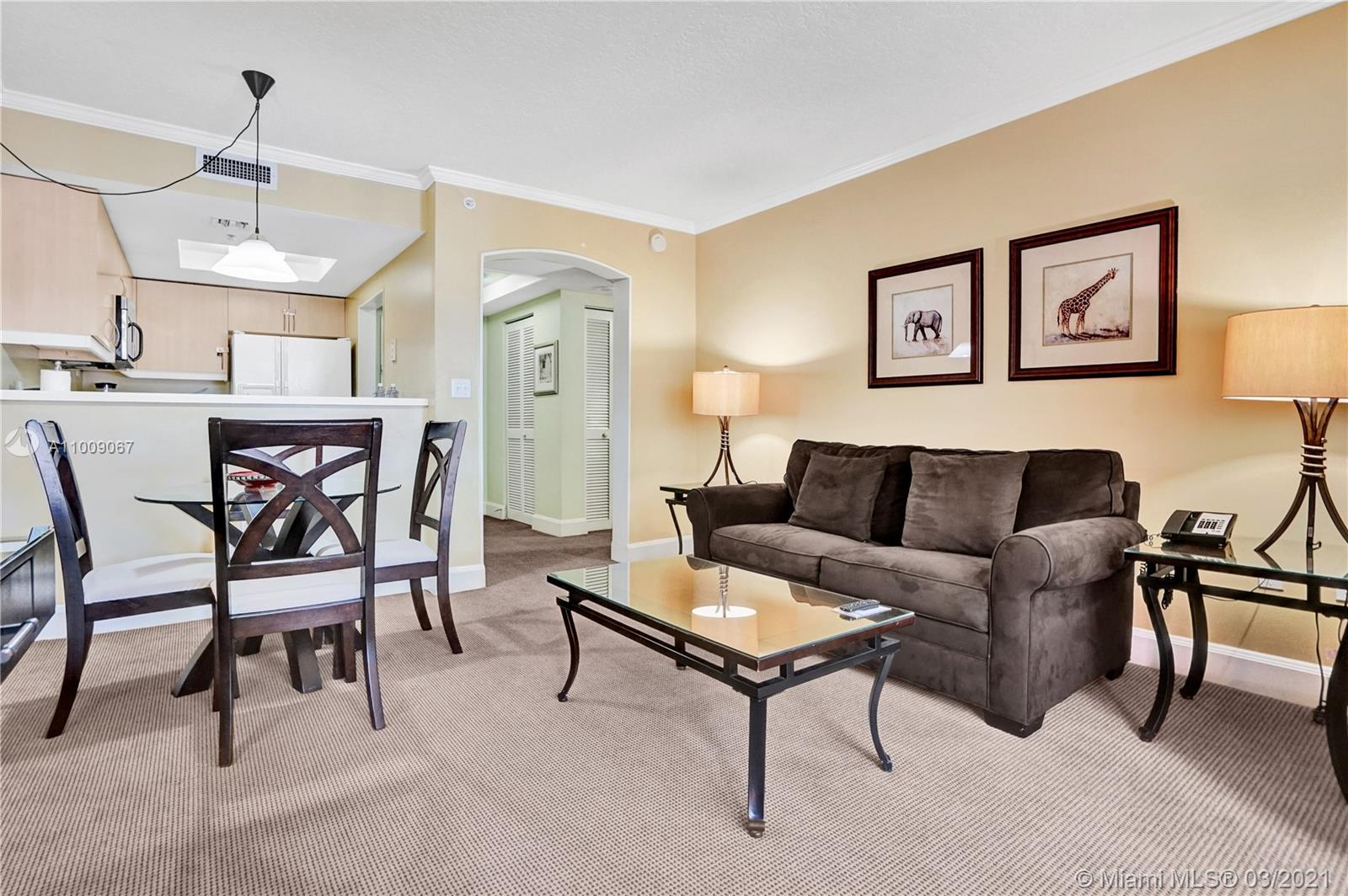 Fully furnished 1br/1ba unit in the iconic Mutiny Hotel. Live in or join the on-site rental program for immediate income with up to 120 days of personal use with no blackout periods. Unit is currently in the hotel program and previous year's income is available upon request. The Mutiny features an onsite restaurant and bar with room service, a gym with sauna and steam room, 24 hour security and front desk, concierge, complimentary valet or self parking ,a nd more. The Mutiny is jut steps away from the heart of coconut Grove and all of the shops, restaurants and night life.