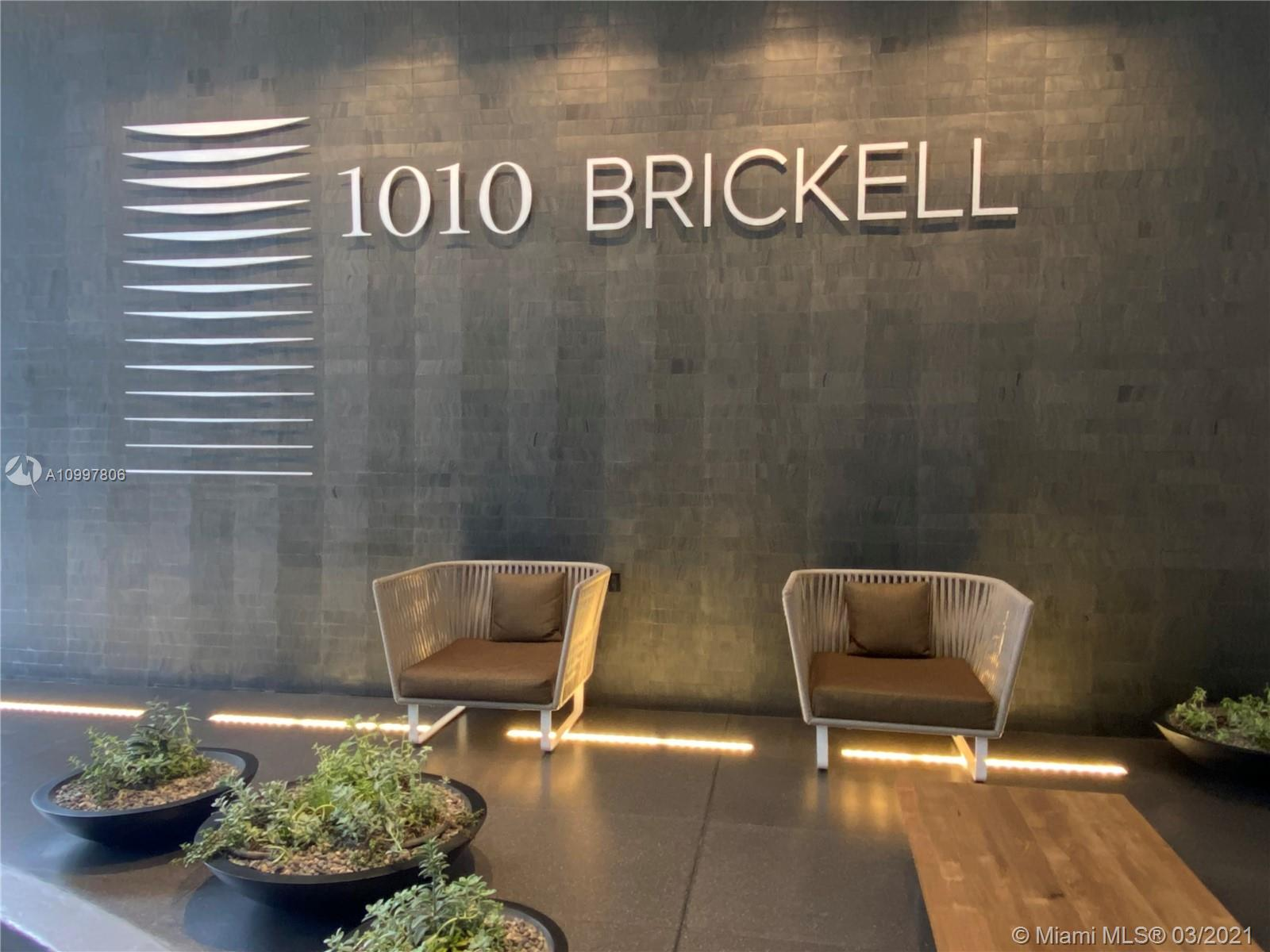 Modern Studio with beautiful views of Brickell Skyline, Italian design cabinetry, professional grade Appliances, Black elegant Quartz in the kitchen  Full Size bathroom with glass enclosure,  floor to ceiling Impact windows with a large balcony.
