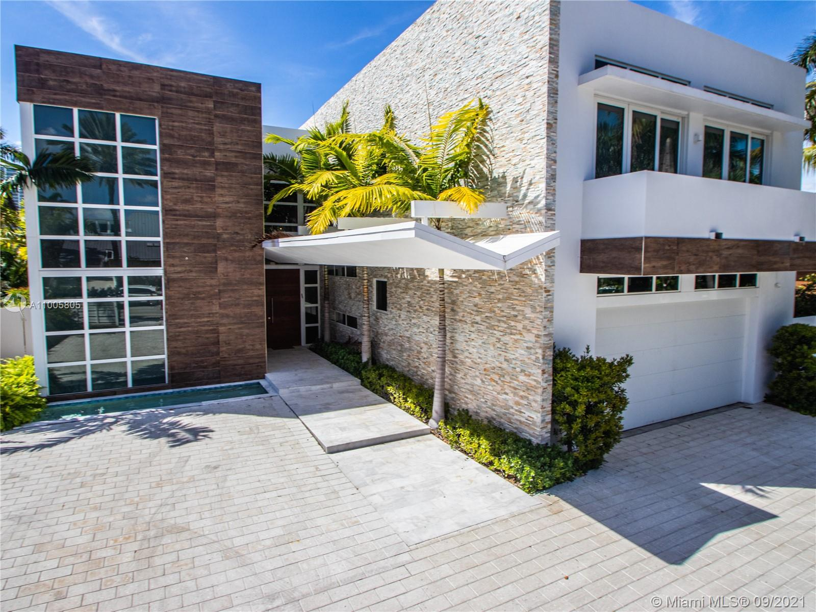 Ultra luxury newly built 2018 mansion in the heart of prestigious city of Golden Beach. Featuring 5 bedrooms, 5.5 Bathrooms with a total of 5,199sft under A/C , property is tastefully finished and fully furnished -Turnkey condition. Chef's kitchen, Breakfast/Dining area, Formal Dining Area, High Ceiling, Entertainment area , Gorgeous Backyard and Pool and many more. Extremely spacious driveway in addition to 2 covered car garage. House is located only steps from the ocean, places of worships and many more point of interest.