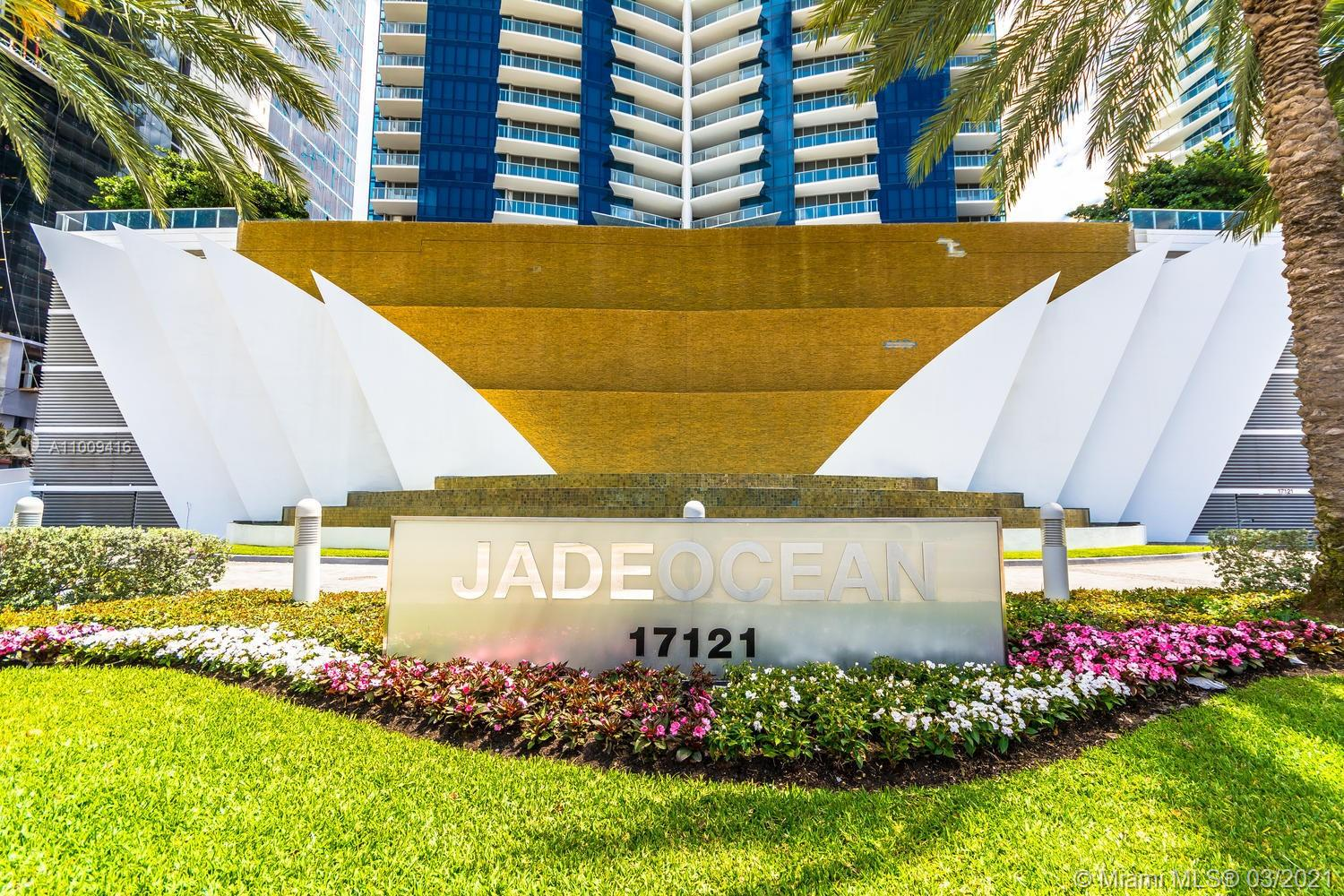 Breathtaking Direct Ocean and city views. This is a definite must see unit at the spectacular Jade Ocean by the Beach. Located in the most premier high rise condominium in Sunny Isles Beach. Impeccable finishes throughout the entire 4 bedroom / 4.5 bathroom unit. Amenities include, beach service, fitness center, full service spa, two pools, party room, valet parking and more. The seller is willing to trade his unit for a smaller, remodeled apartment in Sunny Isles.