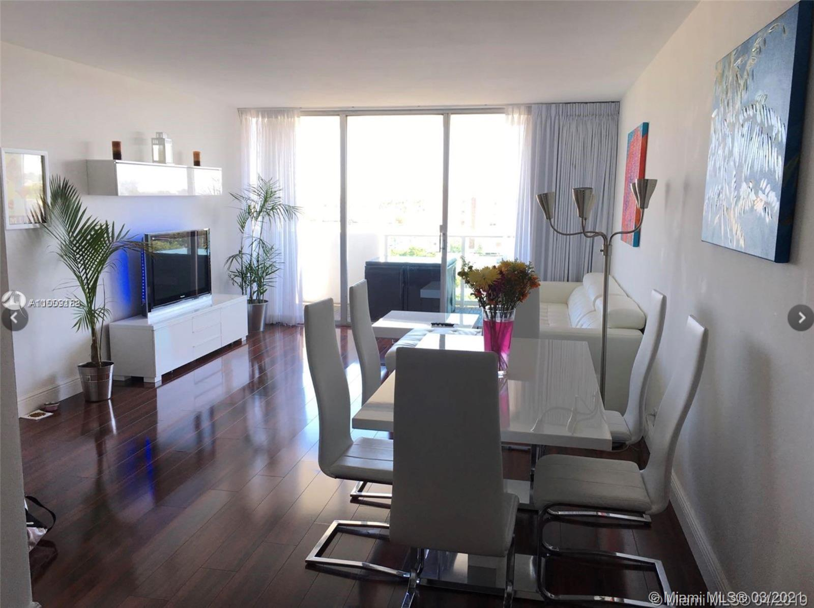 Georgeous huge 1 bedroom apartment in the desirable Mirador South. Brazilian cherry flooring all over, large terrace, lots of light. New kitchen and new bathroom. Great investment opportunity! New windows of impact. Special assessment $ 300 per month.