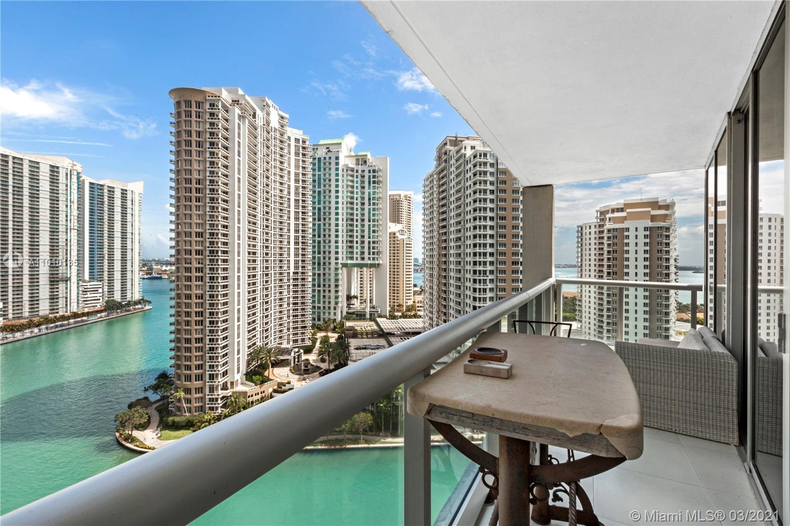 Largest 2 Bed + Den corner unit featuring floor-to-ceiling high impact glass doors that provide a bright and spectacular water view of Biscayne Bay, Miami Beach, Fisher Island and Key Biscayne. Split plan with expansive balcony and open kitchen with Wolf and Subzero Appliances. Icon Brickell offers a 5 star Spa & Fitness Center w/ largest Olympic pool and oversized Jacuzzi. Assigned Parking Space and Full time (24/7) concierge & valet parking. 3 top restaurants on site and walking distance to the best restaurants and shops in Brickell. Best deal in Brickell under 1M. Den can be enclosed into a 3rd bedroom. Unit Rented for $4500/month until November 2021