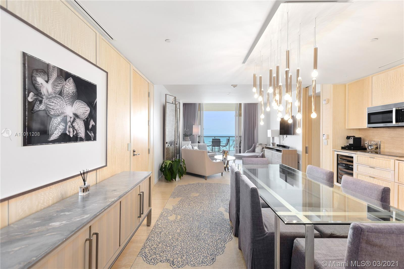 "This is a unique 2103 sqft ""Royal Suite"" 2beds/3baths in the most exclusive 5 stars Hotel "" The St Regis"". This unit features a spacious living room with an open kitchen and dining area, a Master Bedroom with a large walk-in closet & a private bathroom, and a second bedroom with private bathroom & it's own kitchenette. All rooms have a terrace and an amazing view of the Pristine Blue waters. Enjoy the exclusive amenities at St. Regis including a private residence Pool, a Remede Spa, Pristine Beachfront service, Gym, Bars, Restaurants, Room service, Art Gallery, Valet and much more… Located across the street from the world famous Bal Harbour Shops and top restaurants and attractions. Owner Motivated!"