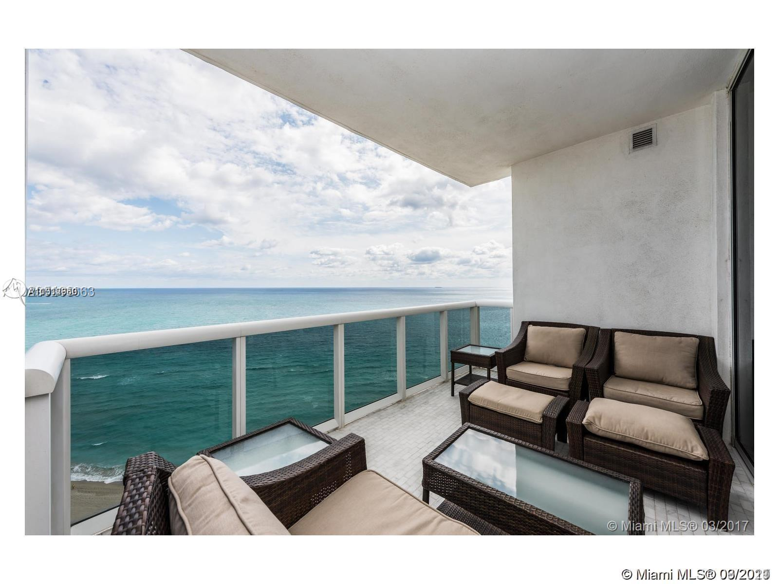 Direct ocean front two bedroom , 2.5 bath unit, split floor plan. Never worry what will be built on the North side of Royale, because your ocean views are guaranteed, can see the coast line to Fort Lauderdale. Master bedroom has his and her separate bathrooms, separate laundry room, large kitchen with double oven, built in coffee machine, two pantries, and lots of storage. PRIVATE ELEVATOR FOYER finished with same flooring as unit, no neighbor! This unit wont last!