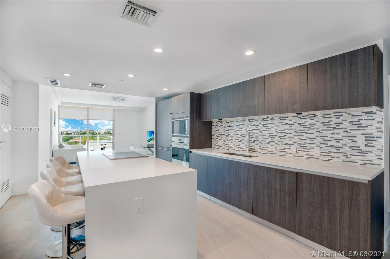 Fantastic opportunity to live in the prestigious neighborhood of Bay Harbor Islands, FL. Brand new construction comprises seven floors and 30 units that feature an open kitchen with Sub-Zero appliances, refrigerator baths with exotic stone & walk-in closets. Le Jardin Residences offers excellent amenities - 2 parking spaces, gym, and rooftop pool,  barbecue area, concierge. A short distance from Le Jardin Residences, you'll find many restaurants, coffee shops, parks, and a luxurious Bay Harbour shopping center. Public schools in Bay Harbor Islands are above average. A+ School Ruth K. Broad Bay Harbor K-8 Center. Fully furnished LEASED UNTIL JUNE 2022   BEST OPTION FOR INVESTORS Total sqf by developer 1623sq.ft   Residence -1409sq.ft and Balcony/ Terrace 214sq.ft
