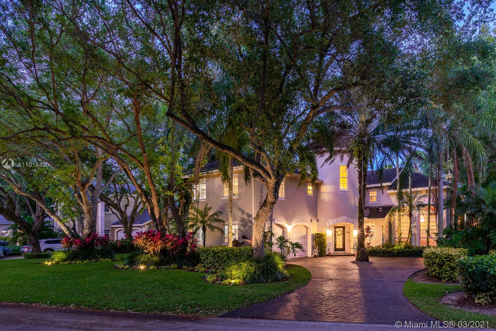 Buyers will swoon over this architecturally distinctive home in the Camelot neighborhood of Cutler Oaks, a one-of-a kind private community of only 24 residences in beautiful Palmetto Bay. A fabulous floor plan encompasses 5 true bedrms; 1 spacious suite located downstairs and 4 bedrms upstairs including THE most divine master suite. An impressive foyer entry, sweeping staircase, grand formal & informal social spaces, poolside family room, and a marvelous eat-in kitchen w/ casual dining island are the heart of this special home, but the exquisite backdrop of majestic oaks, vibrant flora, striking pool, and covered terrace are the 'show stoppers' - living al fresco has never looked so good. It's a stand-out home in a stand-out community, and the next lucky owner will be absolutely delighted!