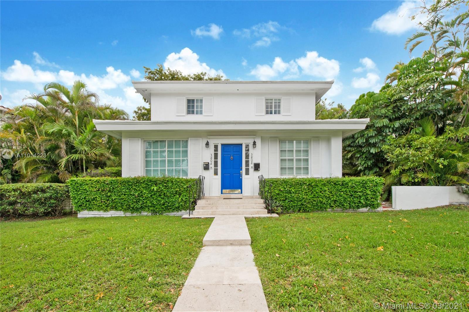 Remodeled, move in condition duplex in one of Miami's most sought after neighborhoods - Coral Gables! This side by side (3/2 x 2), two story townhouse style duplex features a full bedroom/bathroom on the first floor, living/dining area leading to kitchen, extra large bedrooms and tons of closet space. Brand new, beautiful kitchen and bathrooms in both units will make this a hassle free rental or a great option to live in one and keep the other side rented. Each unit feels like its own home with two private parking spots per unit in the back and a private side yard entry/exit. 2020 renovation was permitted with the city of Coral Gables. Visit today!