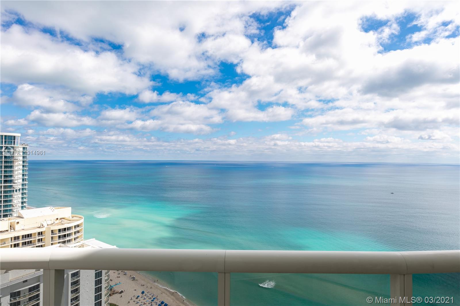 Stunning condo in the sky with phenomenal views. This corner unit has both intracoastal and direct ocean views. Large laundry room with new open kitchen and bathrooms. The 07 line is the largest 2 bedroom in Ocean Four with flow through views. Ocean Four features a game room, restaurant, fitness center with classes and pool/beach service.