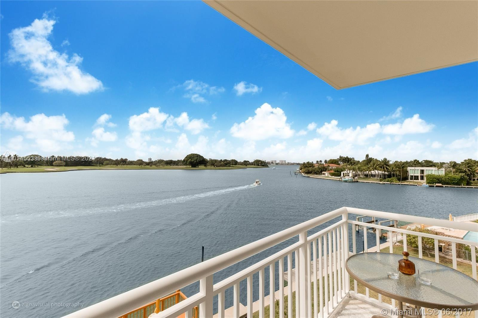 Stunning unobstructed south/southwest water views from living/dining/bedrm of Indian Creek Isl. golf course & intercoastal from this understated elegant & tastefully updated 1/1.5 direct waterfront corner unit in intimate B.H.I. condo-28 units. Marble floors throughout; All high-end S.Steel appliances; oversize double door fridge/freezer & oven; wall to ceiling cabinets & storage. New hurricane impact windows & sliding doors; 11'x7' custom walk-in bedroom closet; blackout & sheer window treatments. A rating Bay Harbor Ruth K Elementary School.