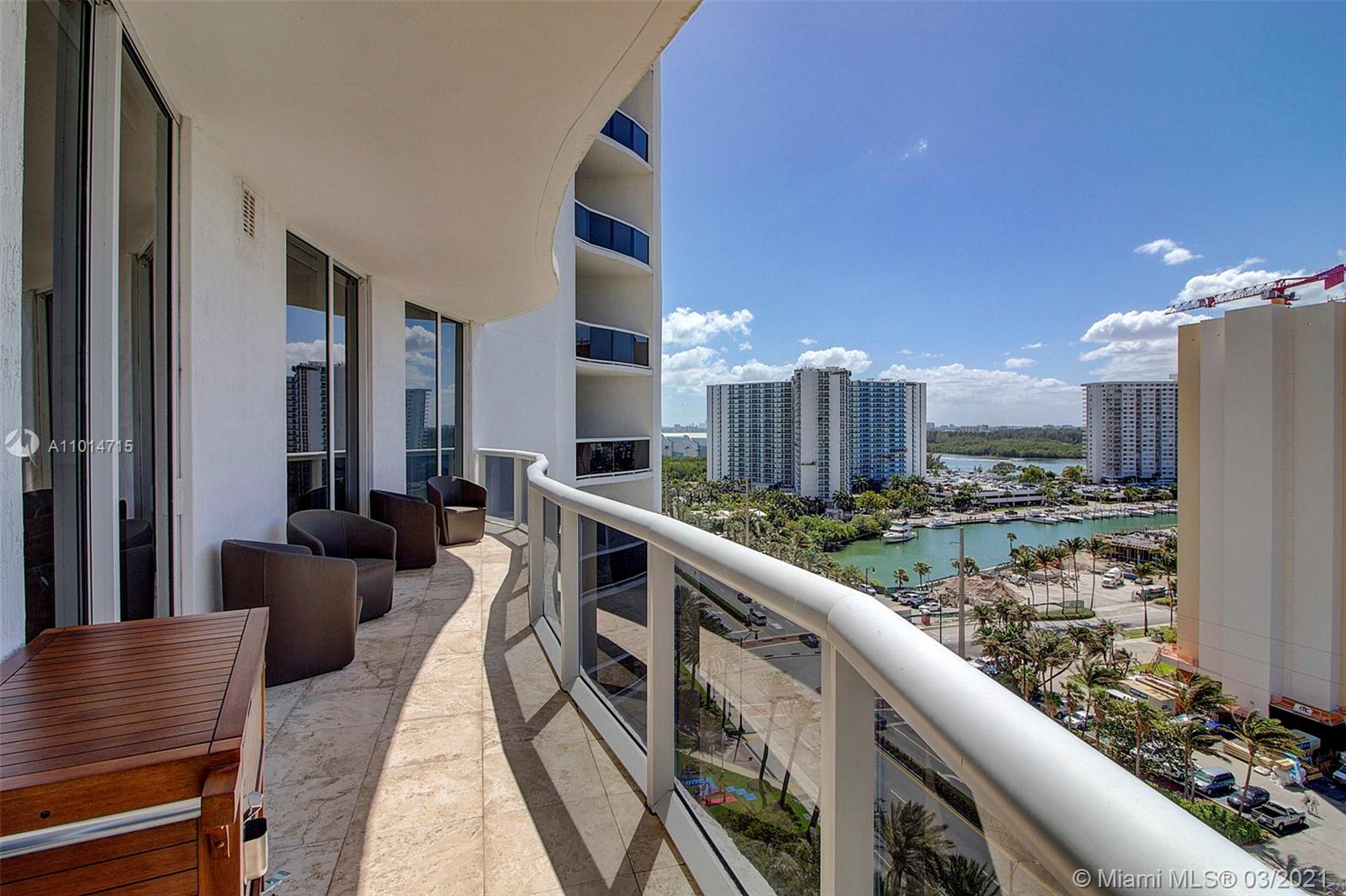 Beautiful 2 Bedrooms/ 2 Bathrooms Intracoastal front Unit in Trump Tower I Sunny Isle, walking distance to shops, restaurants and supermarkets.   The unit is loaded with upgrades such as high end Subzero Refrigerator, Bosh oven and stove, Granite tops and much more.  Breathtaking views to the  intracoastal.  the unit sits on the 10th floor with a large entrance hallway.  Lots of space in this 1435 sq ft apartment.  The building very well maintained.World class amenities including a full service restaurant as well as Beach service.  ASKING PRICE IS FIRM WITH LITTLE TO NO ROOM FOR NEGOTIATION!
