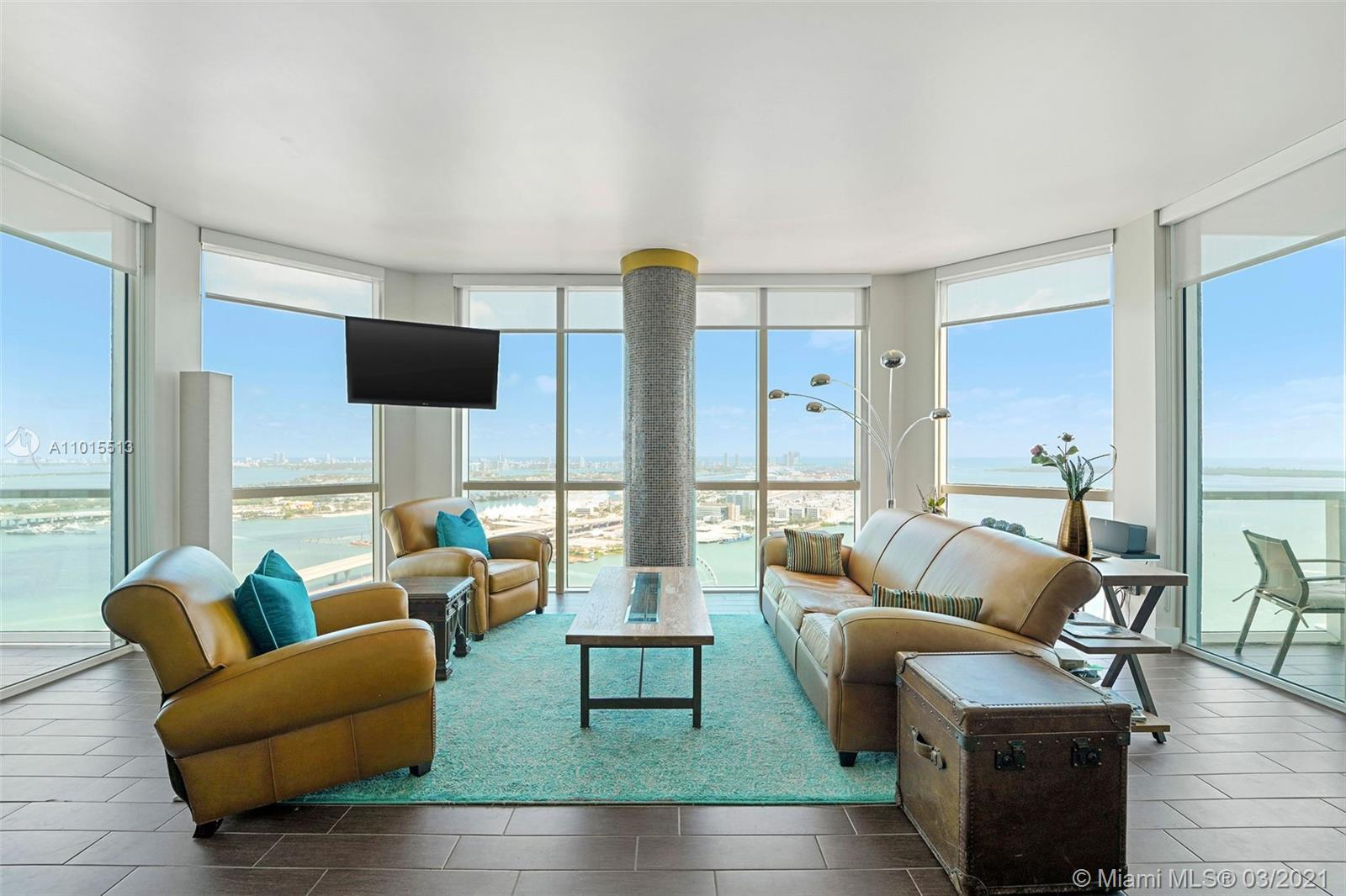 STUNNING AND SPACIOUS HOME IN THE SKY WITH DIRECT EAST VIEWS OF BISCAYNE BAY, BAYFRONT PARK, AND PORT OF MIAMI. 3 BEDROOMS AND 3 BATHS WITH FANTASTIC SPLIT PLAN LAYOUT, OPEN KITCHEN AND GREAT VIEWS FROM EVERY ROOM. 2 ASSIGNED PARKING SPACES AND ADDITIONAL ASSIGNED STORAGE UNIT ALSO INCLUDED IN SALE. VIZCAYNE OFFERS LUXURIOUS AMENITIES WITH 4 POOLS, RECENTLY REDONE STATE OF THE ART GYM, CLUBHOUSE, SPA, THEATER AND MEDIA ROOM, BUSINESS CENTERS, ETC. FANTASTIC LOCATION WITH ALL THE BEST THAT DOWNTOWN HAS TO OFFER WITHIN FOOTSTEPS AND EASY ACCESS TO METRORAIL, BRIGHTLINE AND MORE. CALL LA FOR EASY SHOWING.