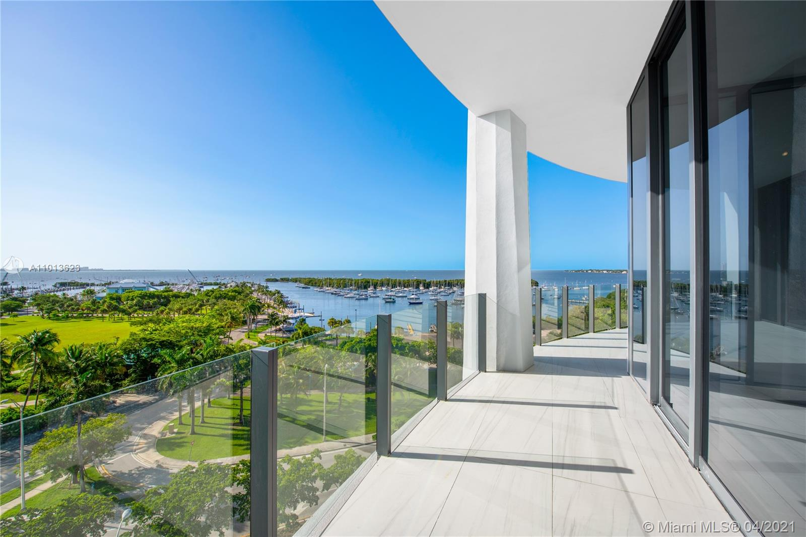 Located in the sophisticated One Park Grove, rarely available A line. Four bedrooms, Five and a Half bathrooms corner residence. This spacious 3,592 SF home offers an oversized balcony with spectacular views of Biscayne Bay. Soaring 12ft ceilings with wrap-around floor-to-ceiling glass. Your private elevator opens to your own foyer. The kitchen, designed by William Sofield, includes Italian cabinetry with marble counter-tops, an eat-in kitchen, Wolf and Sub-Zero appliances. Designed by Pritzker Prize-winning Architect Rem Koolhaas/OMA, Park Grove is the epitome of luxury living. Amenities include: valet, pool deck offering incredible views, 5-acres of lush, landscaped grounds, signature spa, children's play areas, 28-seat screening room, and more.