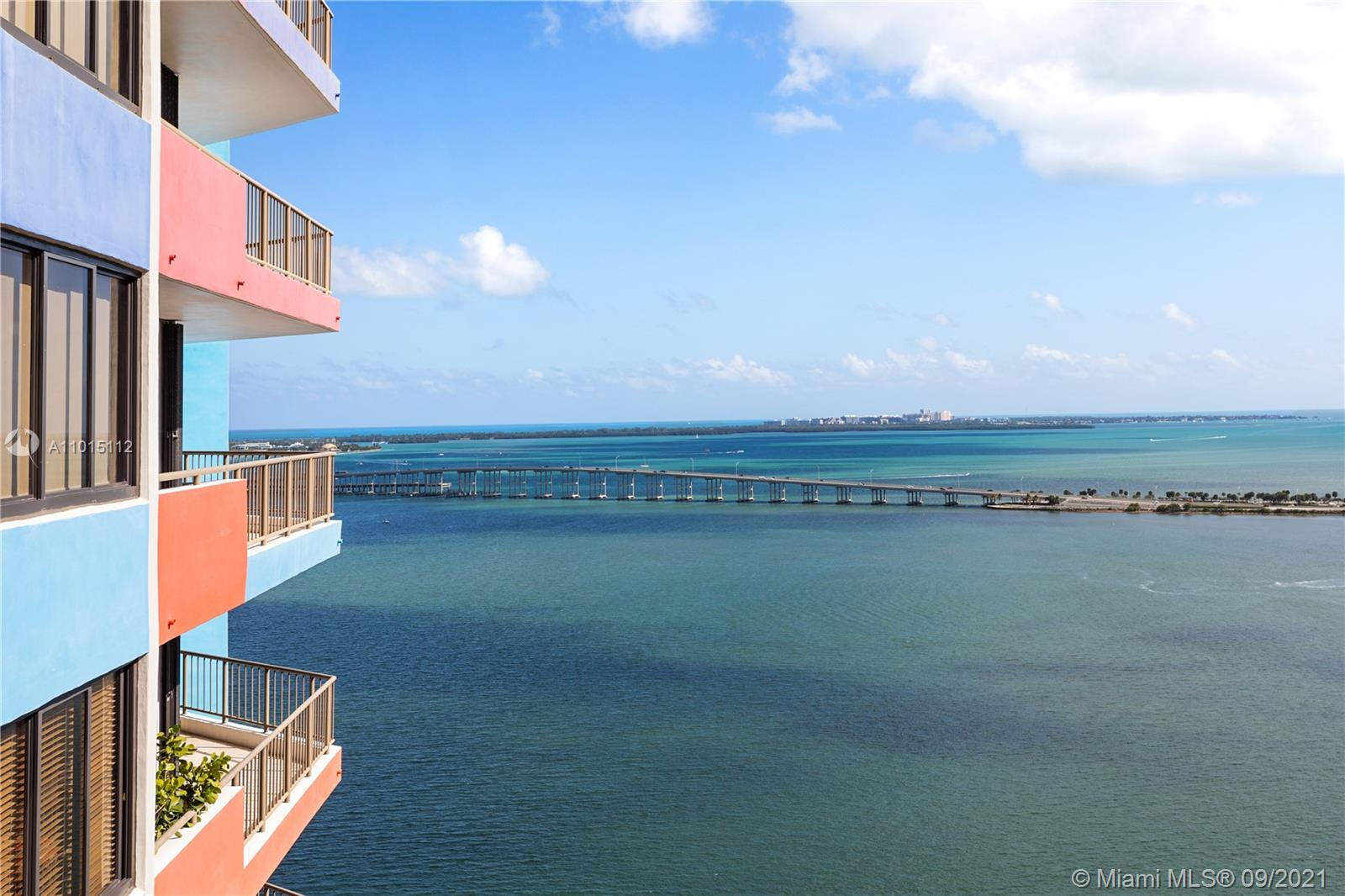 Newly Priced! Now priced to sell.  This apartment is HUGE, with 2,403 sq feet of living space it's truly a house in the sky.  This 2 bedroom + den + bonus room, 3 full baths are perfect for anyone wanting to live in the heart of Miami.  It offers multiple views from its two balconies, including water views of Biscayne Bay, Miami's Brickell Skyline, and the port of Miami from the master bedroom balcony.  Kitchen and 2nd bedroom and bathroom recently remodeled in 2016.  Villa Regina has resort-style amenities including a gorgeous pool, jacuzzi, BBQ area. Spa, sauna, movie room, billiard room, private party room, and highly south after boat slips in its private marina. All offers must include proof of funds