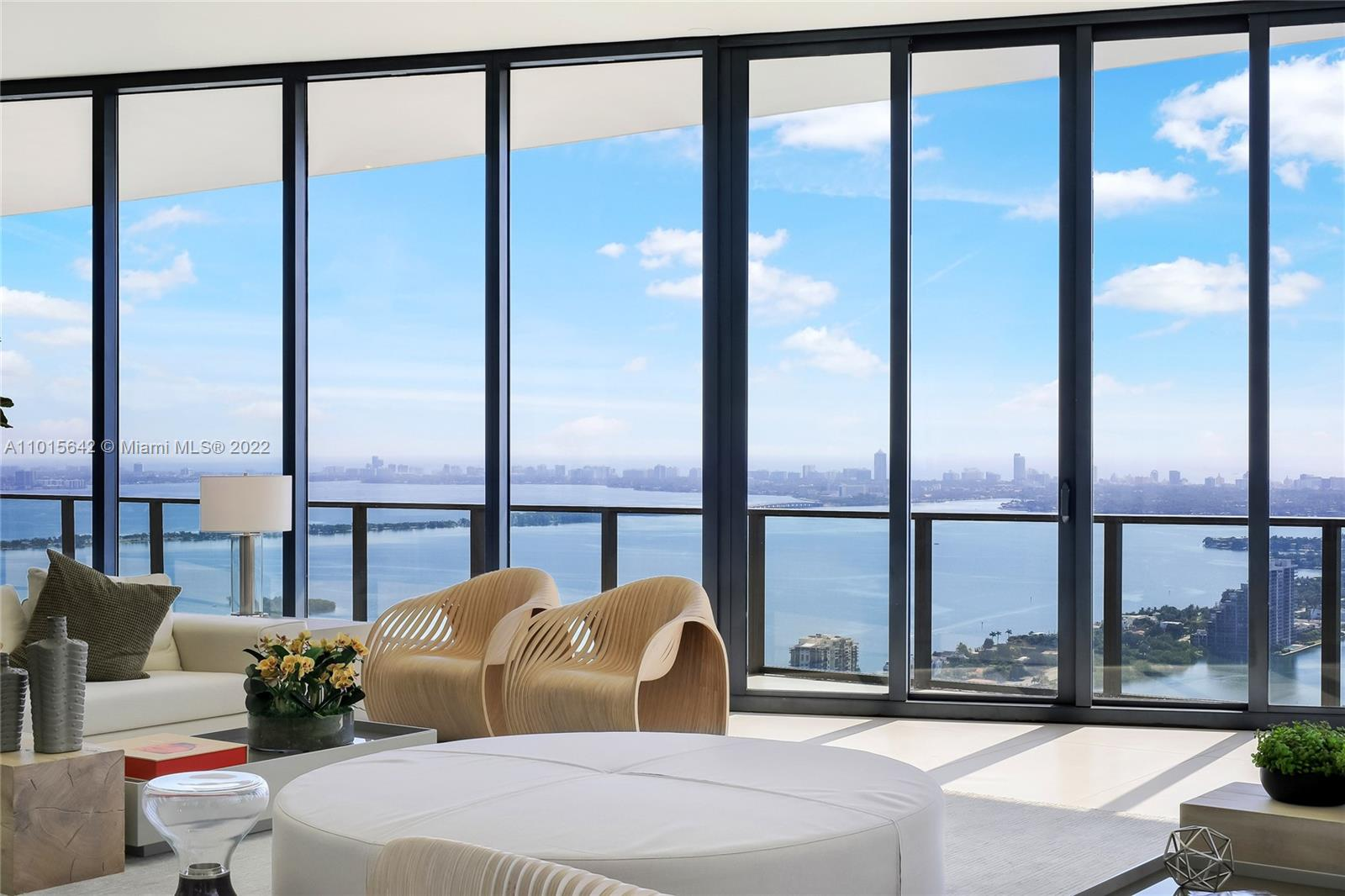When only the best will do. The only turn key ready, full floor furnished Penthouse in a renowned Zaha designed building with a private helipad on the market in S Florida. Every aspect, every corner of this Penthouse is one of a kind. Expansive views in every direction are ever-present through glass walls that reach up to 12' ceilings. Master wing is an absolute sanctuary. Four oversized, luxurious suites, with spa baths & terrace access. Perfect for entertaining, this residence offers an open-plan flow, from a great room into a formal dining room and out onto a 1,200-SqFt terrace. White glove service, six star amenities and views you have only dreamt of are at your fingertips.  This Penthouse is like no other ... positively mesmerizing.