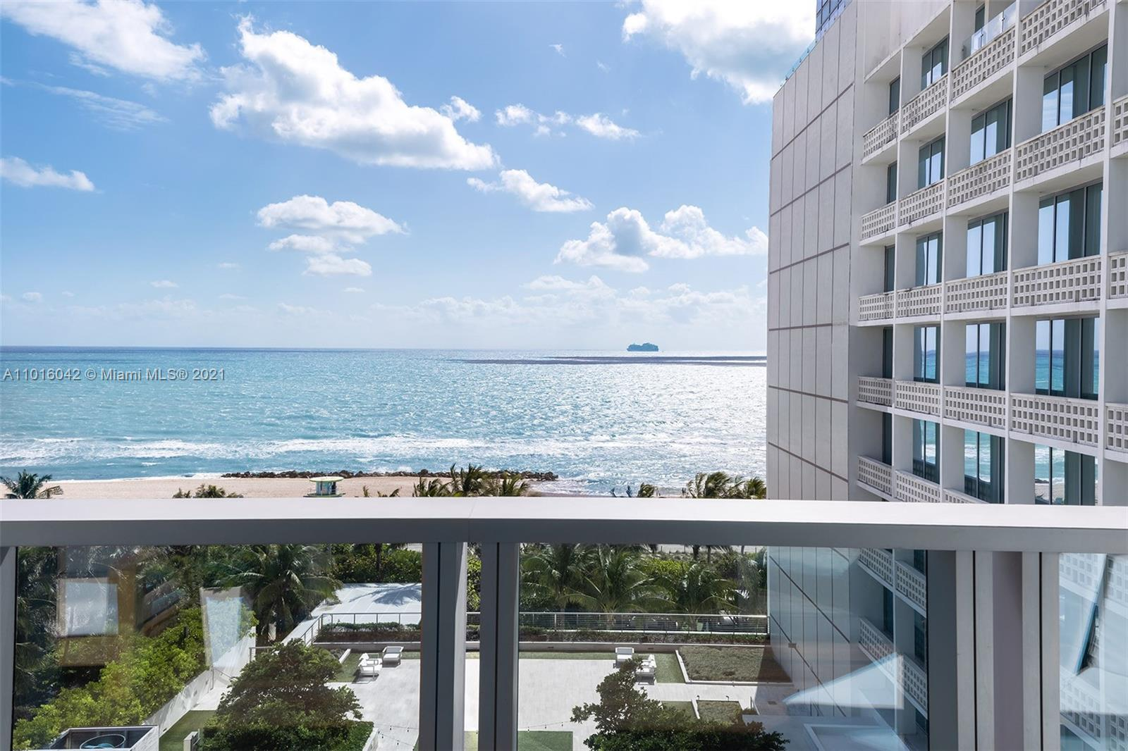 Defined by open living spaces, abundant natural light, and absolutely breathtaking panoramic beach and water views, this 3,002 SF+/- oceanfront condominium offers 3 bedrooms, all with terrace access, 3 full and 1 half spa-like bathrooms, stunning modern interiors, complete access to exemplary hotel amenities, and a dedicated private entrance, plus a sweeping 516 SF+/- balcony ideal for year-round entertaining. The EDITION is an outstanding oceanfront residence with hotel amenities designed for high expectations: entertain, live well, and visit the beach all in one luxurious setting. Just steps from the Miami Beach Boardwalk and convenient to all major airports, the EDITION offers oceanfront bliss with nearly instant access to Miami's most popular destinations.