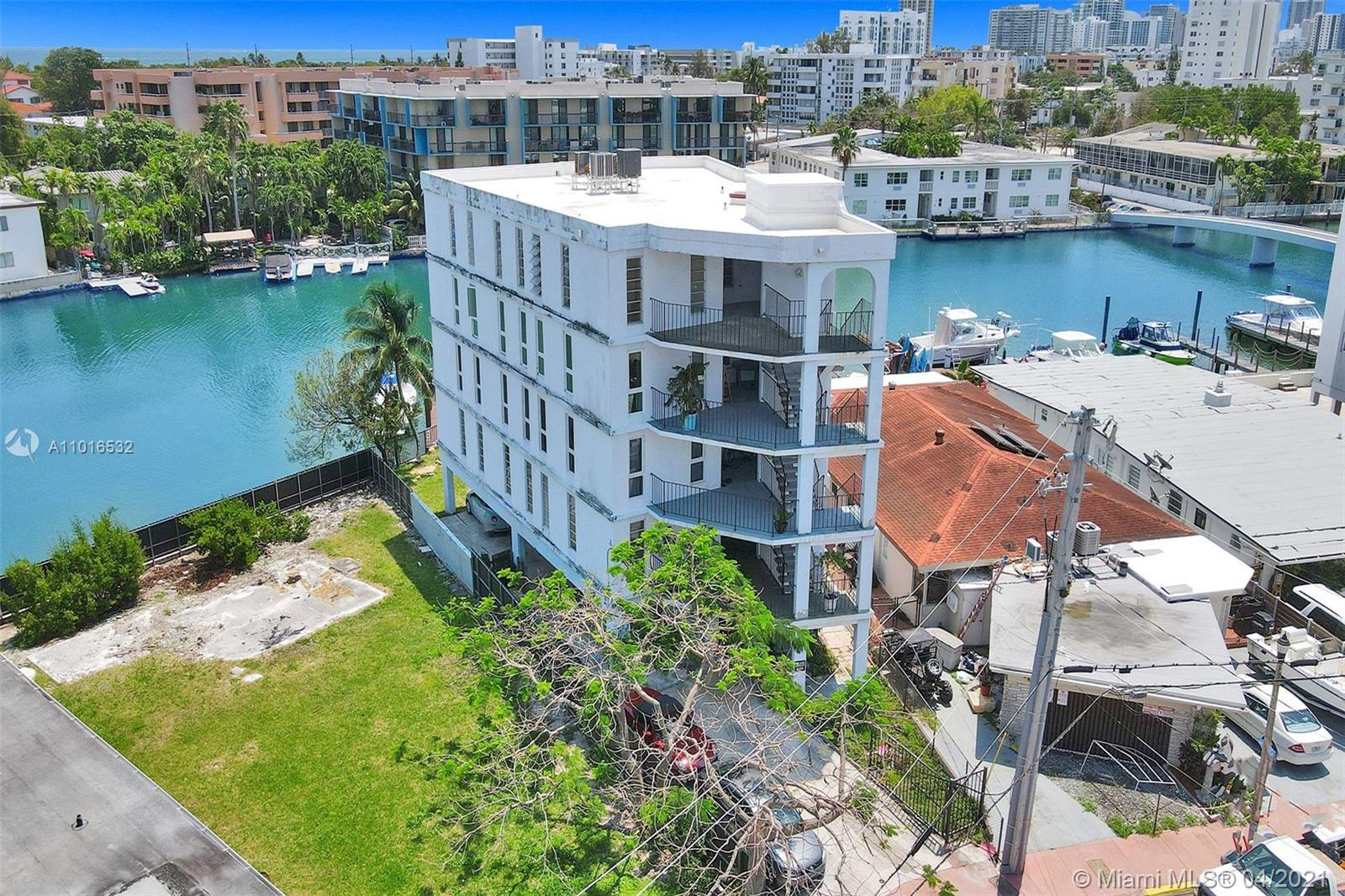 Best Priced waterfront Condo on Crespi Blvd Tatum Waterway Canal in the heart of Miami Beach with a boat dock. A Very well-kept unit with Wood floors, Impact Windows, Chef's Kitchen, & amazing views in a small condo total 4 units, one unit on each floor including with Impact windows and assigned parking space. Only Minutes to Bal Harbor, Bay Harbor Islands, and Surfside. Building is going major renovations including elevator modernization & cab replacement, gate repair, concrete restoration, waterproof pit and exterior wall painting. Tenant occupied until September 19, 2021