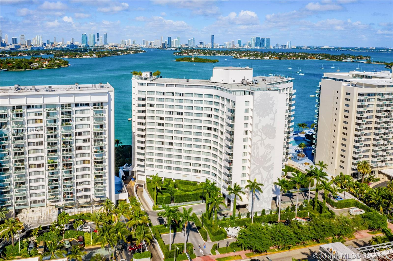 Beautiful Miami Skyline, Bay and Sunset views from this low floor location at the re-known Mondrian Hotel. Fully furnished and equipped, currently in the hotel pool but buyer can opt out of agreement after purchase. Enjoy the pleasure of staying in Miami Beach, its pool parties & more. One of the hottest spots in South Beach, also offers rental income (daily, weekly, monthly, yearly)to cover your operating expenses. If left into Hotel Rental management, owner can use the condo at least 69 days per year. Best views side of the building on a low floor with open water views, pool area and more. Monthly maintenance fee amount, application fees and dock availability must be checked/verified by buyer/agents with condo association.
