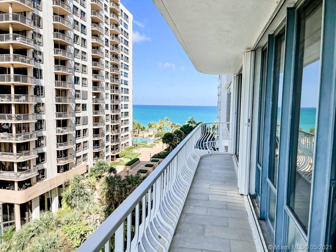 Beautiful corner unit apartment located on the beautiful 101 Bal Harbour building. Apartment overlooks the intracoastal, the city and partial views of the ocean. Resort style living! This impressive apt includes state of the art kitchen with natural light and top of the line appliances, marble floors throughout, huge master suite with 2 master bathrooms, 2 walk-in closets, and wrap around balcony. Office, storage and eat in kitchen, huge rooms. This prestigious building recently had a complete renovation and offers excellent amenities such as on site restaurant, fitness club, valet, party room and beach and pool service, hotel rooms for your guests. The building is located within walking distance from the Bal Harbor Shops with great shopping and outdoor dining options. SOLD AS IS