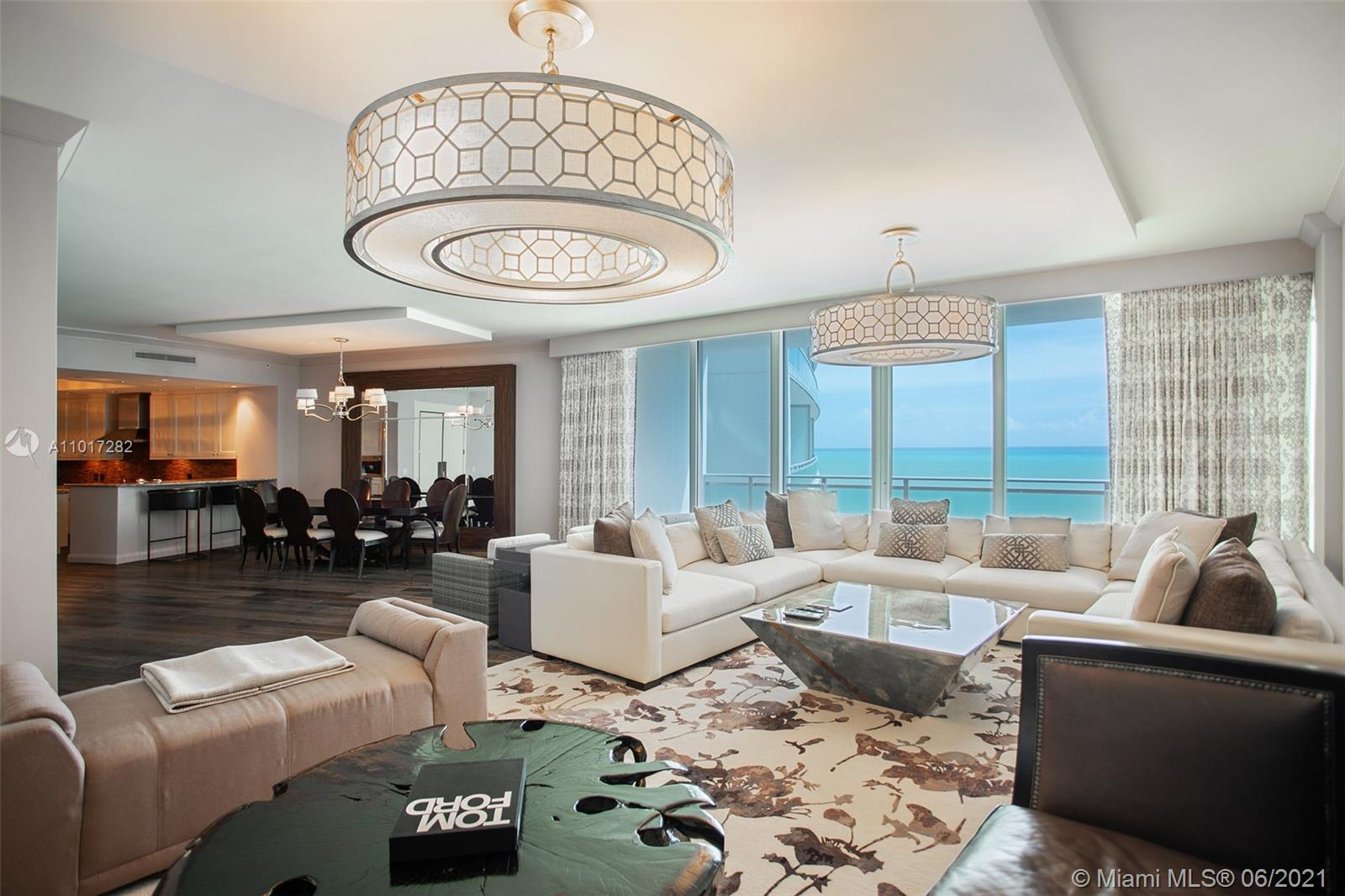 Beautiful 3 bedroom 3.5  bath ocean front residence, several blocks away from Bal Harbour Shops. Ritz Carlton Amenities at your service - Spa, beach & pool services, restaurant, room service, 24 hr concierge.