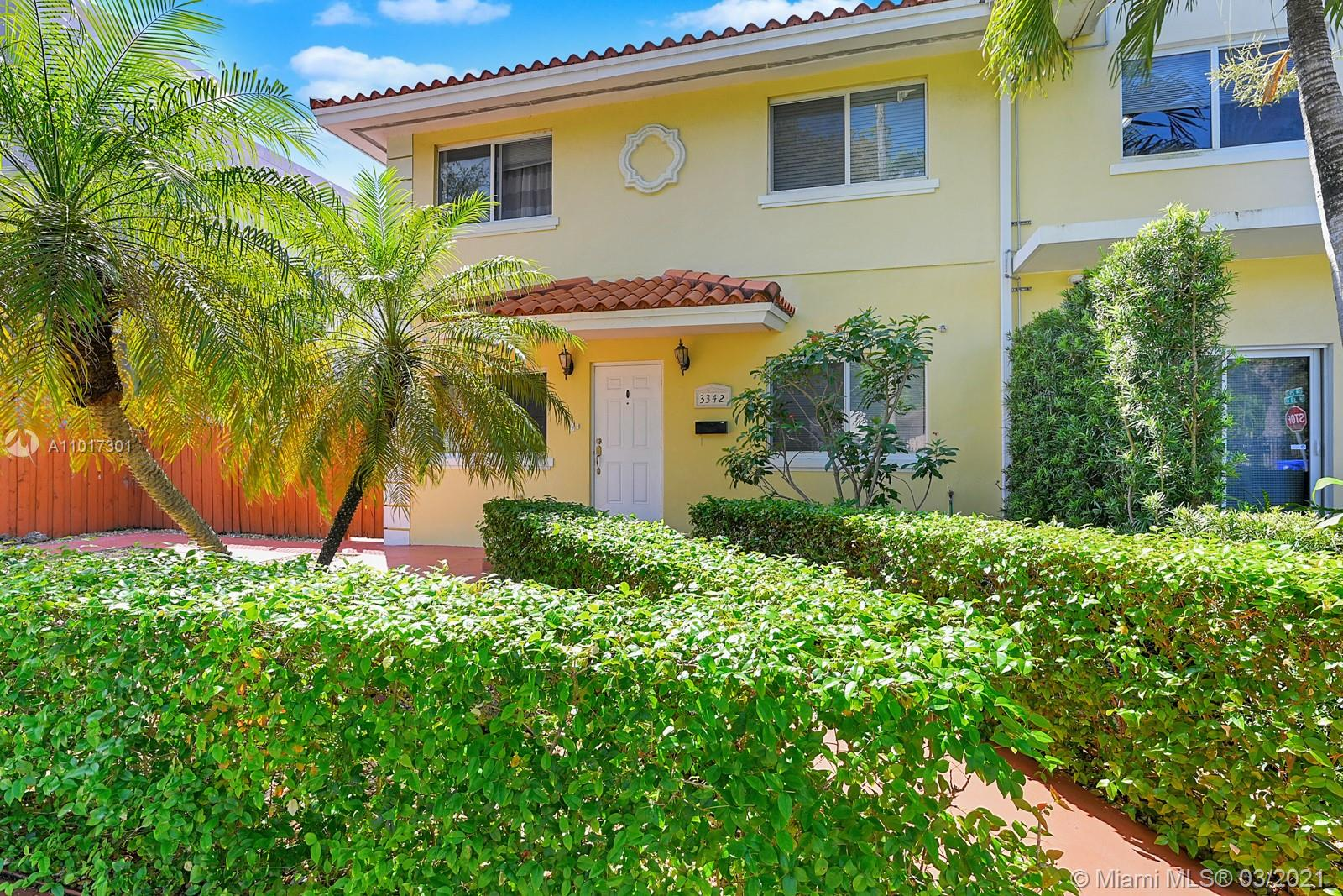 Don't miss a piece of the Miami Lifestyle, Villa Toscana of Miami located in the #1 State of USA, Consisting of 6 rooms/5ba, separated by door so you can use as 4/3 and 2/2 if wanted with individual entrances in the front and rear. Hurricane Impact Windows & Doors. Located within 2-18 minutes to 3 Marinas •Coconut Grove •Downtown Miami •Brickell •Virginia Key •Key Biscayne •4 beaches •Water sports •Shopping •Dinning & more. Income potential as a short-term rental is amazing, I`ve  attached comps+ I&E, Ask broker. Buy next door 3340(A11016647) ,Making it a TOTAL of, 13 rooms+ 10.5 Bath baths, Plenty of parking, Have the best of both worlds that of enjoyment & the other Making a huge return on Investment. Must submit DU or POF before scheduling appointment.
