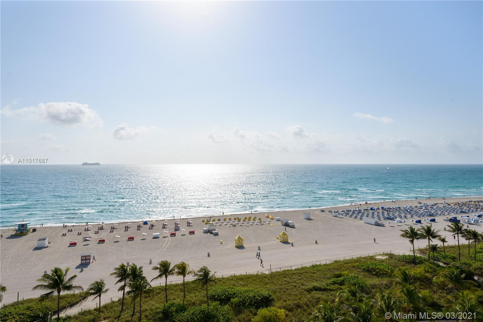 Perfect Pied-A-Terre with direct ocean views in the best location in South Beach. This spacious 2 bed/2 bath unit has been fully renovated & has spectacular views of the Atlantic  Ocean. The building is located directly ocean-front on Lincoln Rd across from the Ritz Carlton & just steps from all that Miami Beach has to offer. This apartment has been  meticulously updated & features a sleek contemporary kitchen with natural stone countertops & stainless steel backsplash, spa-like modern bathrooms, and furnished with high-end  Italian furniture. Can be rented 12 times per year/30 day minimum. The unit features a 2nd entrance and the ability to close off the 2nd bedroom/bathroom as a studio with its own  kitchenette. You are able to rent it out separately or together as one unit