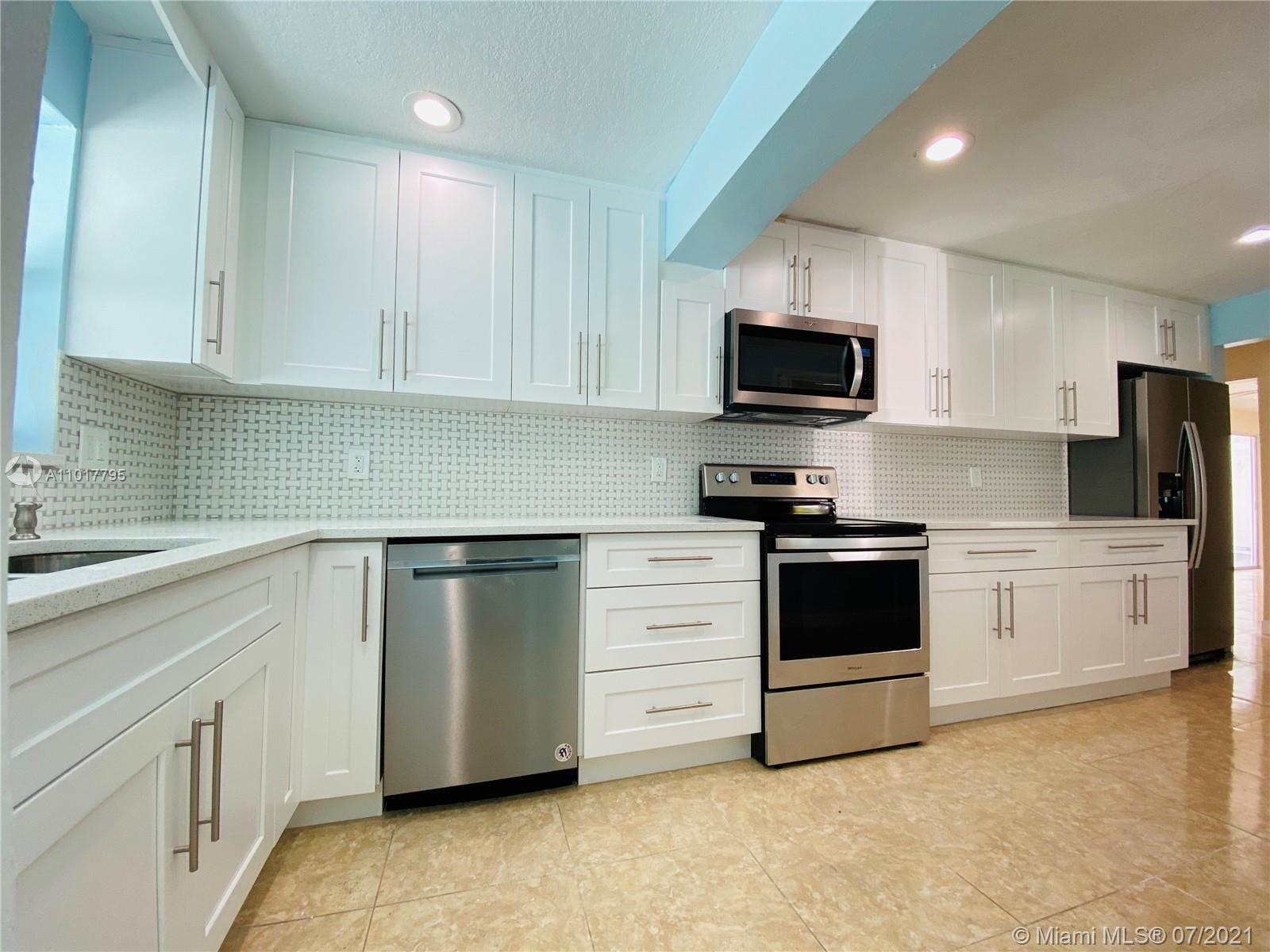 Updated kitchen and baths. Private backyard with pool. Impact windows and hurricane shutters. Must show proof of funds with offer. Backyard needs some TLC. Easy to show, vacant. Roof done in 2008.