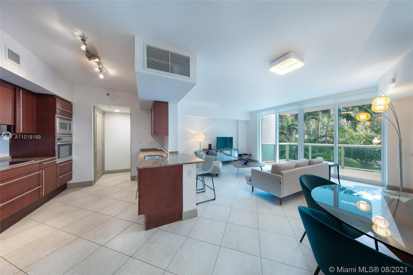 Come live in this in this spacious residence at Murano Portofino in Miami Beach. This 1 bed, 1.5 bathroom condo has a semi-private elevator foyer and quick access to the ground floor. The condo comes turn-key with furniture and electronics. The building is located in the highly desirable South of Fifth area, and close to South Pointe Park. Its five-star amenities include gym, pool and tennis court.