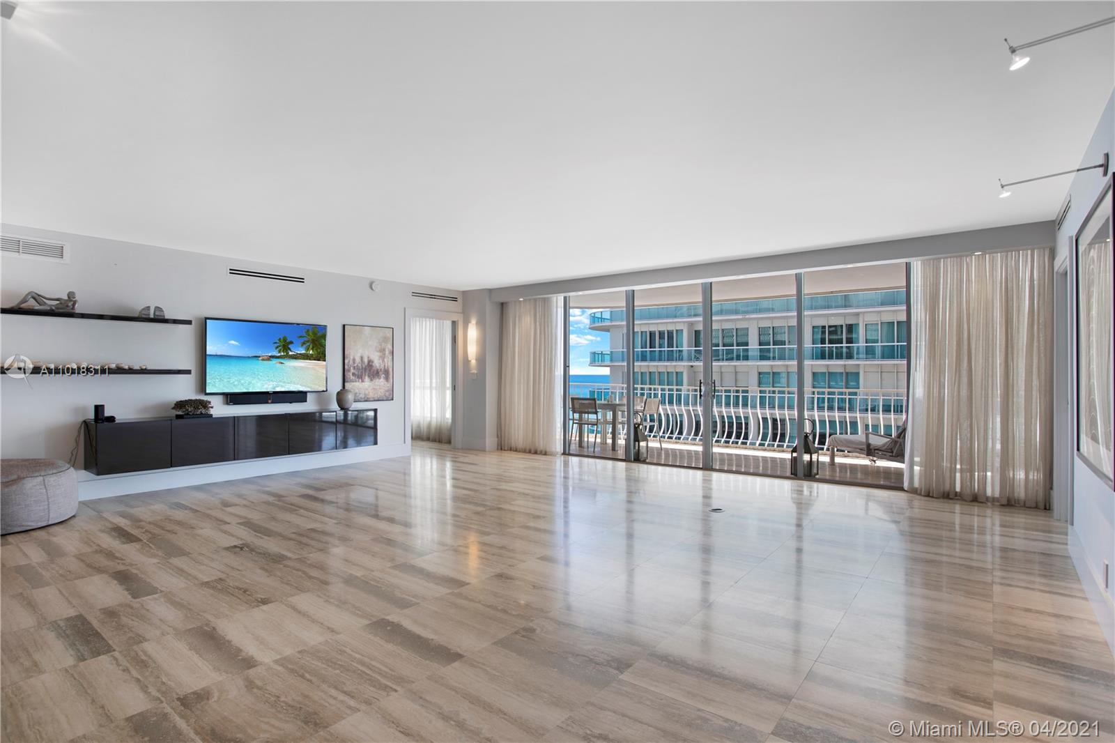 This stunning 2,525 sq ft apartment is located on the 10th floor of the beautifully renovated Bal Harbour 101 building. Open floorplan perfect for families and entertaining! Dramatic foyer and gorgeous ocean views. Spectacular eat-in kitchen with Sub-Zero, Wolf and Miele appliances. Split-plan features 2 bedrooms + den/3rd bedroom with 3 en-suite baths including a Primary Suite with 2 walk-in closets. 24-hour valet, tennis courts, basketball, pool, state of the art fitness center, on-site restaurant, social room and beach service. Steps from the beach, this unit is located in the heart of Bal Harbour walking distance to Bal Harbour Shops with the best shopping and outdoor dining options.