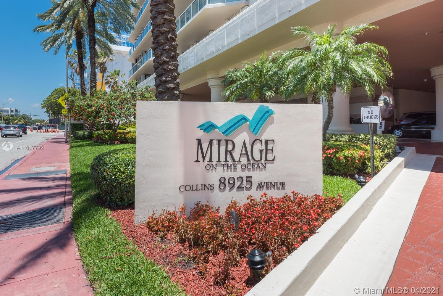 3BR/2.5BA corner 2nd floor unit with stunning views of ocean and (soon to be finished) pool and garden in boutique building.  Unit feels more like a house with the pool, garden and beach in your backyard.  Hurricane impact windows cover the floor to ceiling sliding doors on the wrap around terrace.  Mirage has the largest balcony for 3 BR/2.5 BA in this price point. Building finishing an extensive remodel of exterior, lobby, pool and garden area, bringing the building up to date.  List & pictures attached.