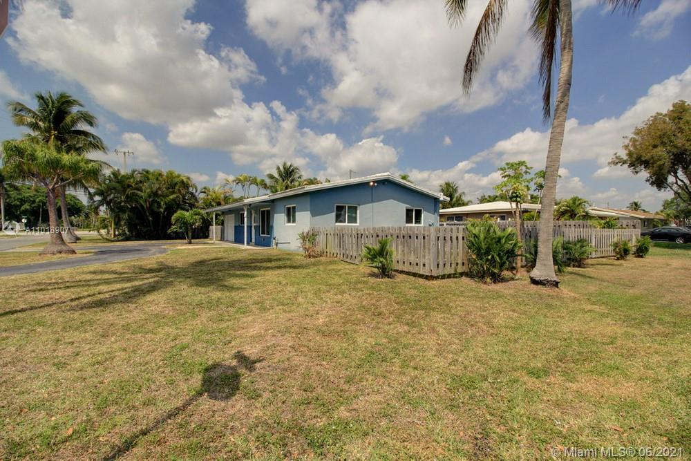Lovely 3 bedroom, 2 bathroom single family home located on a large corner lot with a pool in highly desirable Pompano Beach with no HOA! This home features an open floor plan, updated finishes in the kitchen, and a spacious backyard with a private pool and spacious patio. This home is conveniently located near shopping, dinning, and entertainment options.