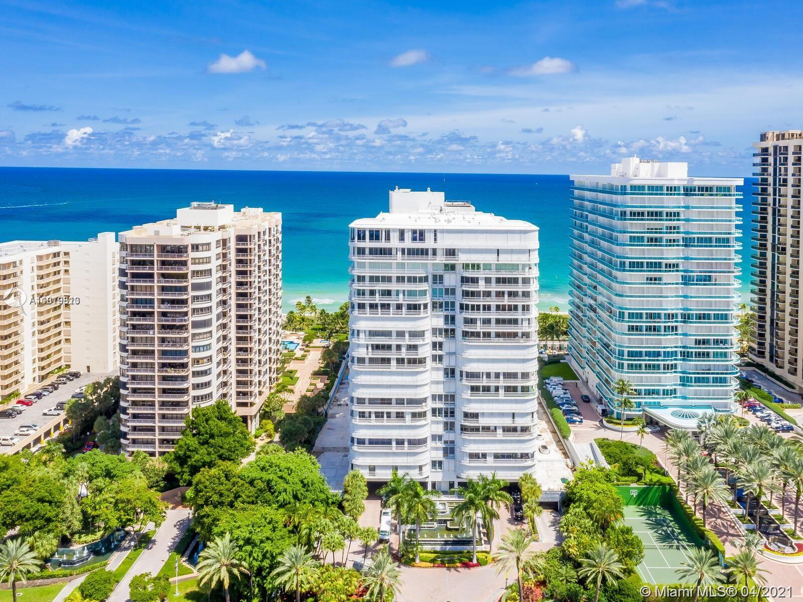 """RARELY AVAILABLE HIGH FLOOR """"07"""" LINE AT THE BAL HARBOUR 101. THIS IS THE MOST COVETED 2 BEDROOM LINE IN THE BUILDING WITH FANTASTIC SOUTHERN VIEWS FROM THE CITY SKYLINE TO THE OCEAN. READY FOR TOTAL RENOVATION TO YOUR TASTE. FLEXIBLE FLOOR PLAN POSSIBILITIES TO FIT ALL YOUR NEEDS. BAL HARBOUR 101 IS A PRESTIGIOUS, FULL SERVICE BUILDING WHICH OFFERS RESTAURANT, TENNIS, FITNESS CLUB, POOL, HOTEL ROOMS, AND HAS RECENTLY UNDERGONE A COMPLETE RENOVATION. GREAT LOCATION STEPS AWAY FROM WORLD RENOWNED BAL HARBOUR SHOPS."""
