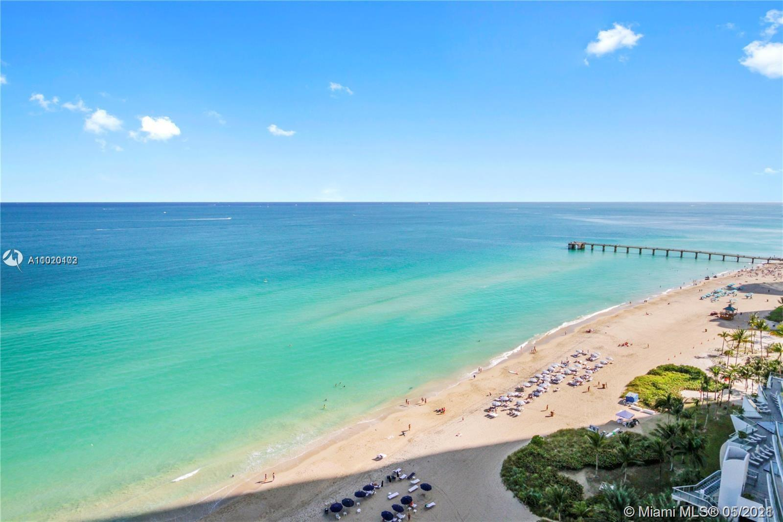 FANTASTIC UNIT WITH GORGEOUS DIRECT OCEAN VIEWS, READY TO MOVE IN. MODERN UNIT WITH OPEN FLOOR PLAN, SPACIOUS KITCHEN, 1.5 BATHROOMS. POOL & BEACH SERVICE, STATE OF THE ART FITNESS CENTER, SPA, MOVIE THEATER, CHILDREN'S ROOM, 24 HR SECURITY, VALET, CLOSE TO SHOPS, RESTAURANTS ETC.