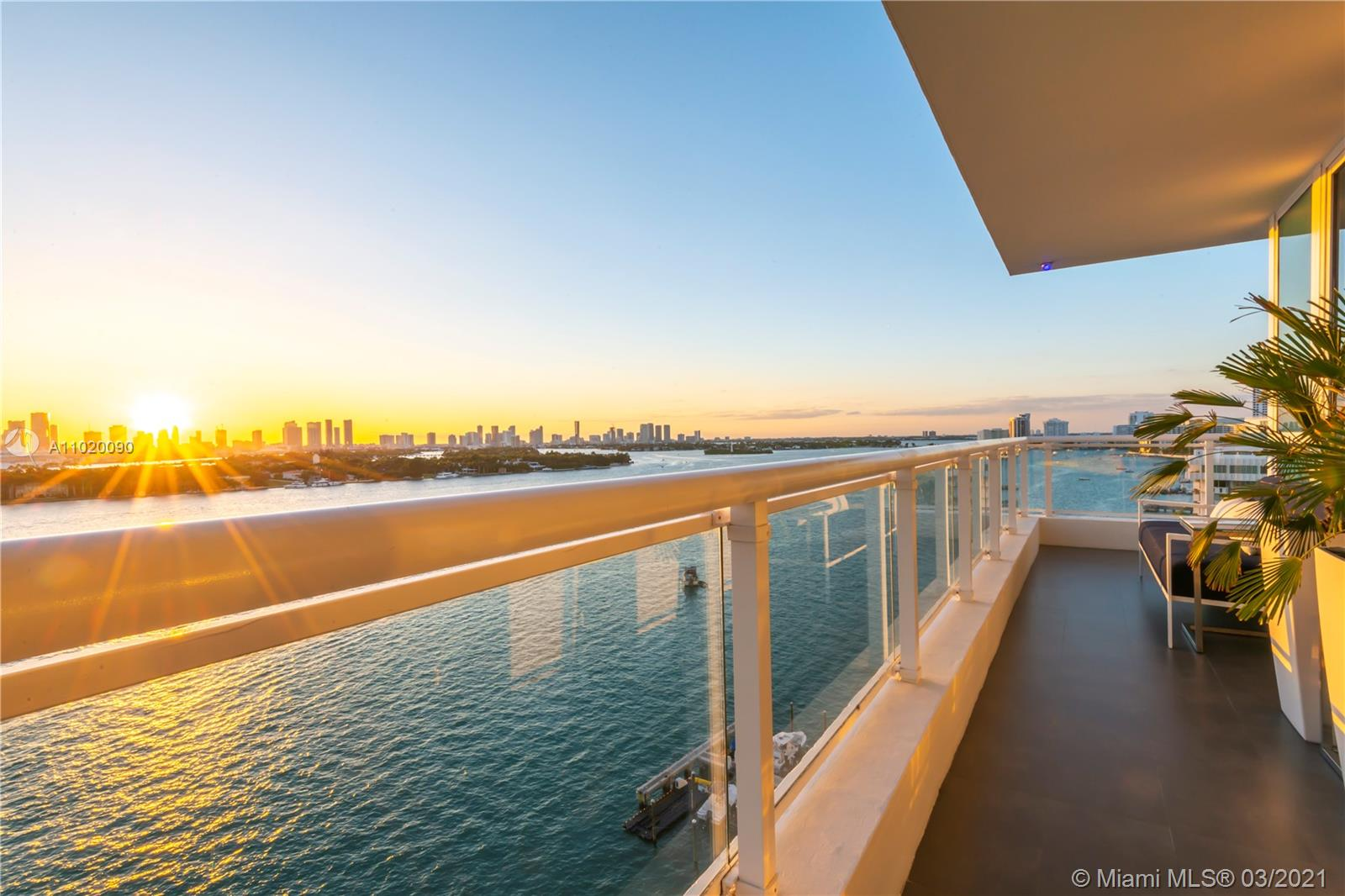 Surround yourself in luxury at the beautiful Bentley Bay on Miami Beach. One of the best lines in the building, this gorgeous corner unit has expansive breathtaking views of the Ocean, Biscayne Bay, and Miami's Skyline. Recently updated to perfection it is turnkey and ready to move in. Two bedrooms with custom closets and ensuite baths designed with Porcelanosa bathroom finishes make it elegant and timeless. The ability to change one of the bedrooms into a flex second living area is brilliant for entertaining. Eggersman designed kitchen boasts Miele appliances and Neolith wall panels and countertops make for a seamless transition from living room to kitchen. Complete this picture with a large fitness center, spa, pool, hot tubs, and lush landscaped pool deck, 24 hour security and valet.