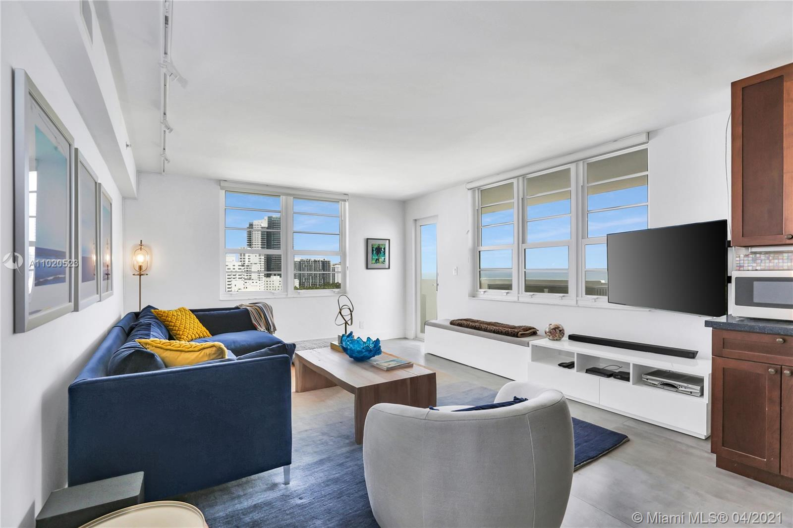 Beautifully remodeled and furnished turn-key corner unit on the ocean. 2 bed, 2 bath with rare 3 parking spaces including 2 deeded + 1 valet ($70k value).  High floor with direct unobstructed ocean views perfectly located near Lincoln Road and fabulous restaurants.  Generous floor plan with Miele & Subzero appliances. New ceramic flooring and lighting.  In unit Bosch washer & dryer, flat screen plasma TVs, designer furniture.  Upgraded impact windows throughout.  Resort style amenities include onsite management, concierge, doorman, 24-hr security, and pool service with attendant. Renovated gym, lobby and pool deck.  Investors can rent 12 times per year, 30-day minimum.