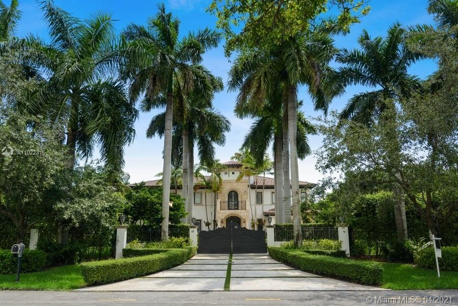 Spectacular, gated, luxury home in historic Old Cutler! This palatial home exudes flair and style-High end finishes-6 Br en-suite, 71/2 Ba, 2 Car Gar, library, movie theater,recreation room,wine cellar,fireplace-Hi ceilings-Stately foyer w/over 25 Ft ceiling, spiral staircase-Marble & wood floors- Impact windows & doors-Impressive Chef's kitchen w/high end appliances -Opens to large family room-Huge private master suite downstairs +1 BR + office- Upstairs: 4 BR + theater + recreation room- Outside is a tropical paradise w/ state of the art outdoor kitchen, heated salt water pool,spa, large covered patio,putting green & beautiful landscape-New roof 2020, 3 new Trane A/C's 2020,new driveway set on concrete 2020-Full house generator-Everything you could ever dream in a house! Not a flood zone