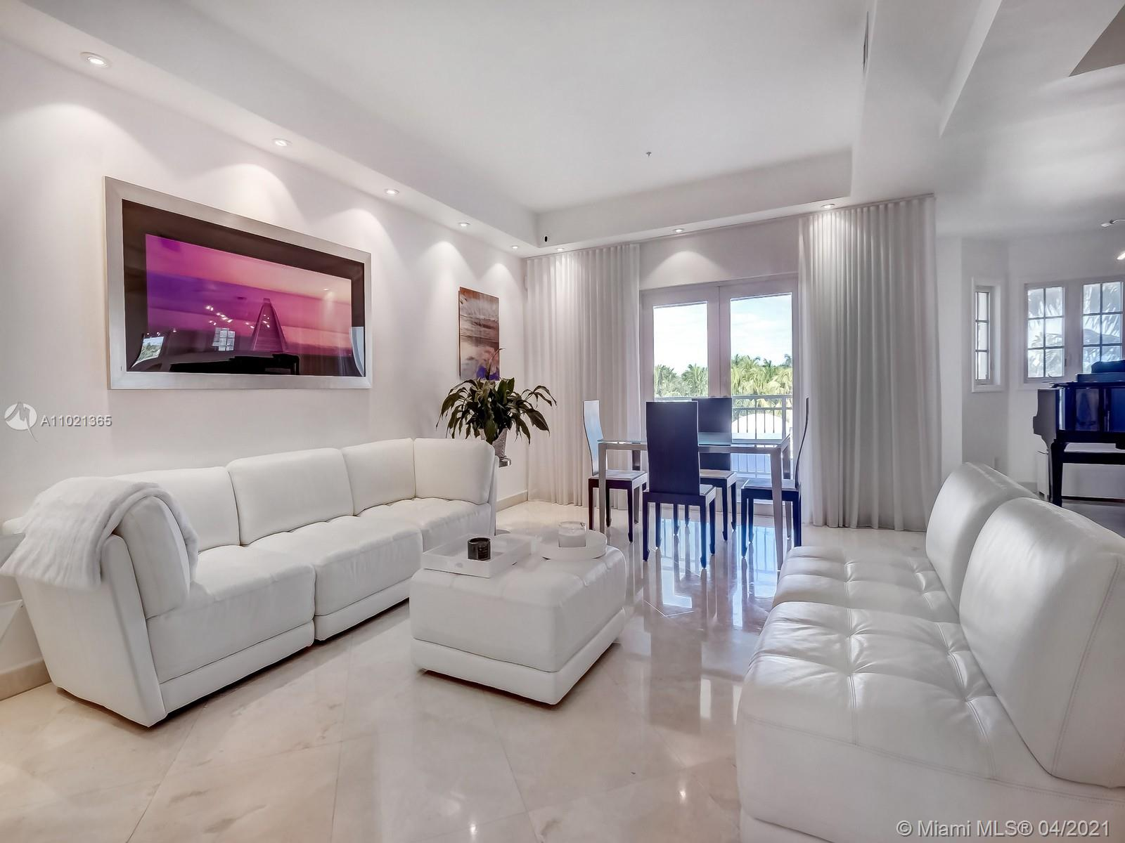 Located in sought-after Miami Beach this unique guard-gated Sunset Harbour townhome offers the ideal tropical lifestyle all within walking distance from boutiques, excellent restaurants, great gyms and more.  Bike, walk or scooter to the world-renowned beaches of South Beach from this 4th & 5th floor 2-story contemporary townhome boasting a modern open kitchen, huge master suite, wood and marble flooring and more.  Features hurricane impact doors and windows, Miele & GE Monogram appliances, 24x24 marble floors, granite countertops, walk-in closets, multiple balconies, large walk-in storage space adjacent the unit and 2 car prkg spaces.  Amenities include Sunset Harbour Yacht Club's olympic-size swimming pool, lounging areas and marina dock slips for purchase or lease based on availability.