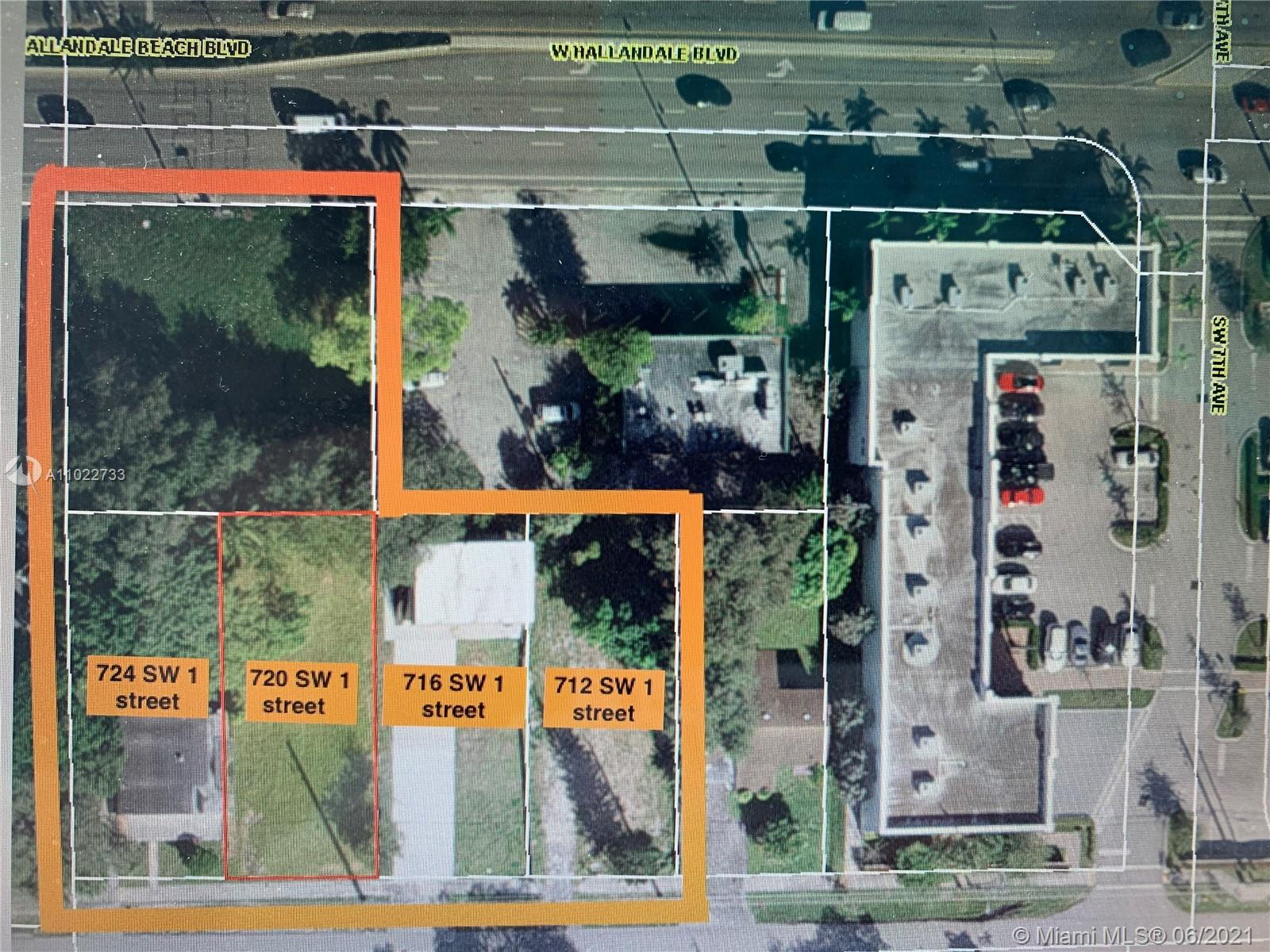 2 story 2 units building and Commercial lot, cab be sold as a whole package 0.78 acres, 2 miles to the beach or Aventura Mall East of I95, possible to build up to 34 floors, Business General (B-G)  Commercial, residential multifamily or retail, you decide, Must be sold together with a lot next door. In case its sold as 6 lots package for a hotel development the price is $5M 10% deposit is a must at C.Serfaty Law office Call listing agent for more information