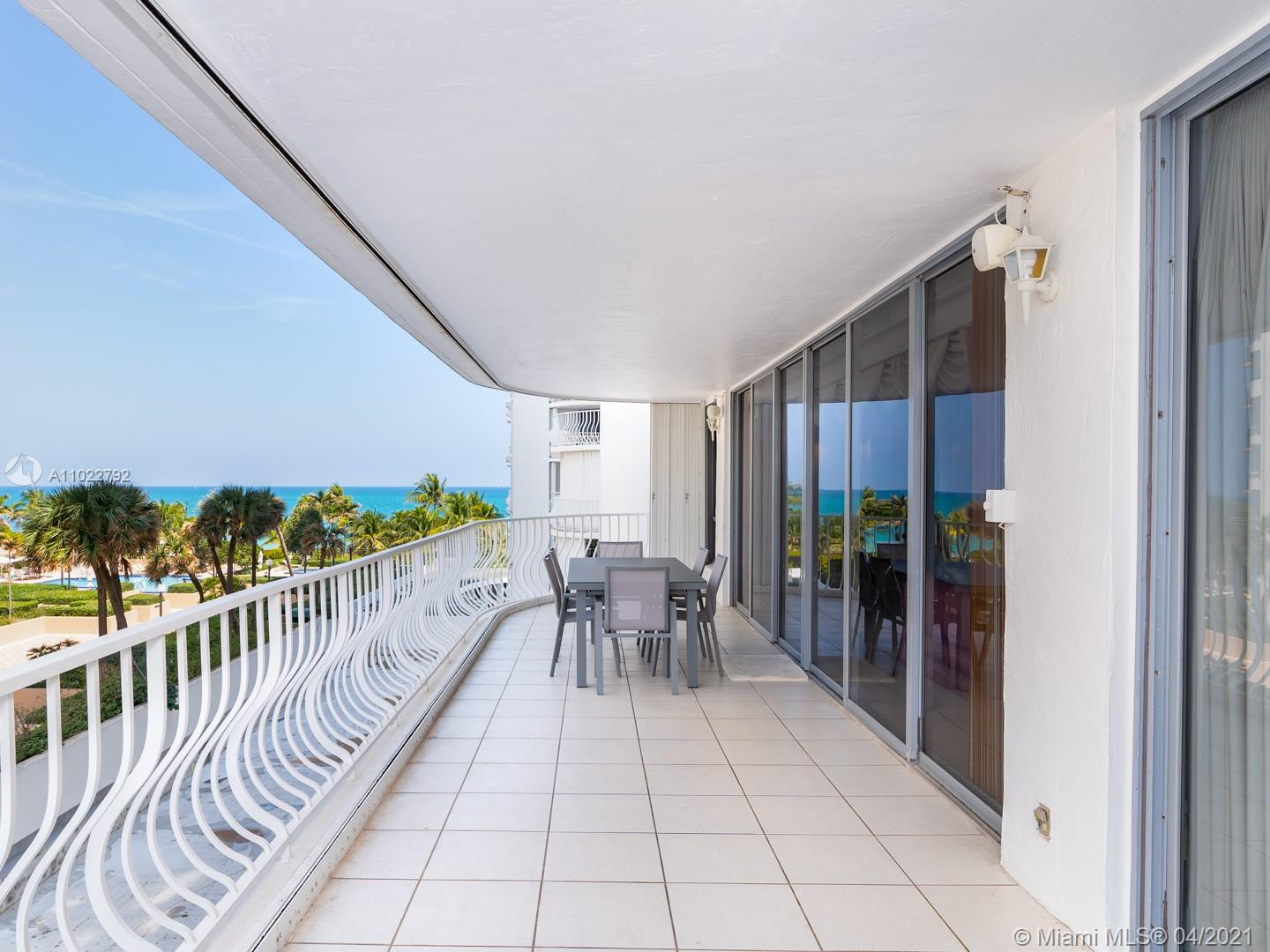 A 2 bedrooms and 3 baths unit in prestigious Bal Harbour 101 oceanfront building. A rare find, sold completely turnkey. A spacious 2540 sq ' plus a 400 sq ft terrace that overlooks garden and ocean view. The building has just completed extensive, STUNNING remodeling throughout, including lobby , pool area , restaurant and fully equipped gym. The 101 building has every deluxe amenity with an outstanding restaurant ,that delivers to unit and the beach.