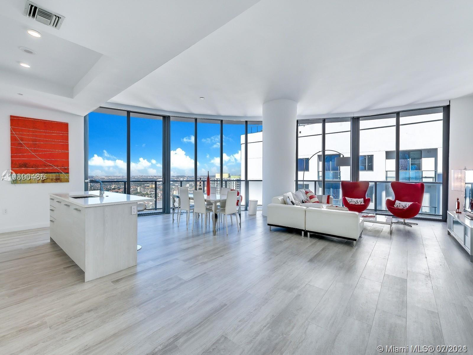 Beautiful Penthouse apartment in Brickell Heights West Tower.  Expansive views from the wrap-around terrace over Miami Skyline. Unit sqft is 1902 under air and 442 sqft terrace - see attached floor plan. This 3/3.5 corner residence featuring custom cabinetry & Electric blinds. Floor-to-ceiling windows create a spacious contemporary ambiance.  The unit has 2 parking spaces  (with a lift).  Brickell Heights amenities include Equinox Gym & Spa, Rooftop Sky Pool Deck, Business Center, and 24/7 Concierge. Only 3 neighboring penthouse apartments. A very private residence in the heart of Brickell village.